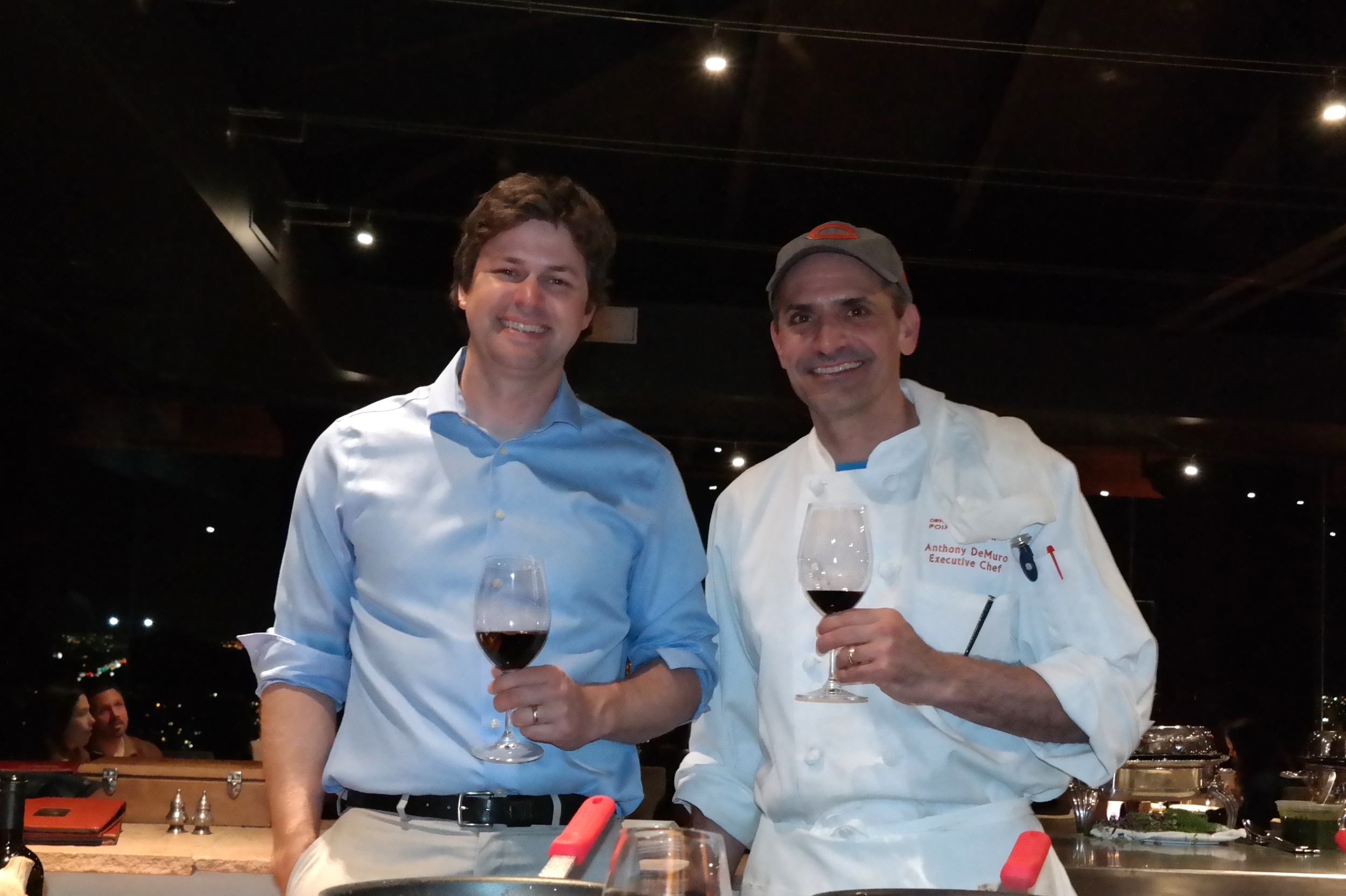 Chef Anthony DeMuro and Steve Nelson of Chalk Hill