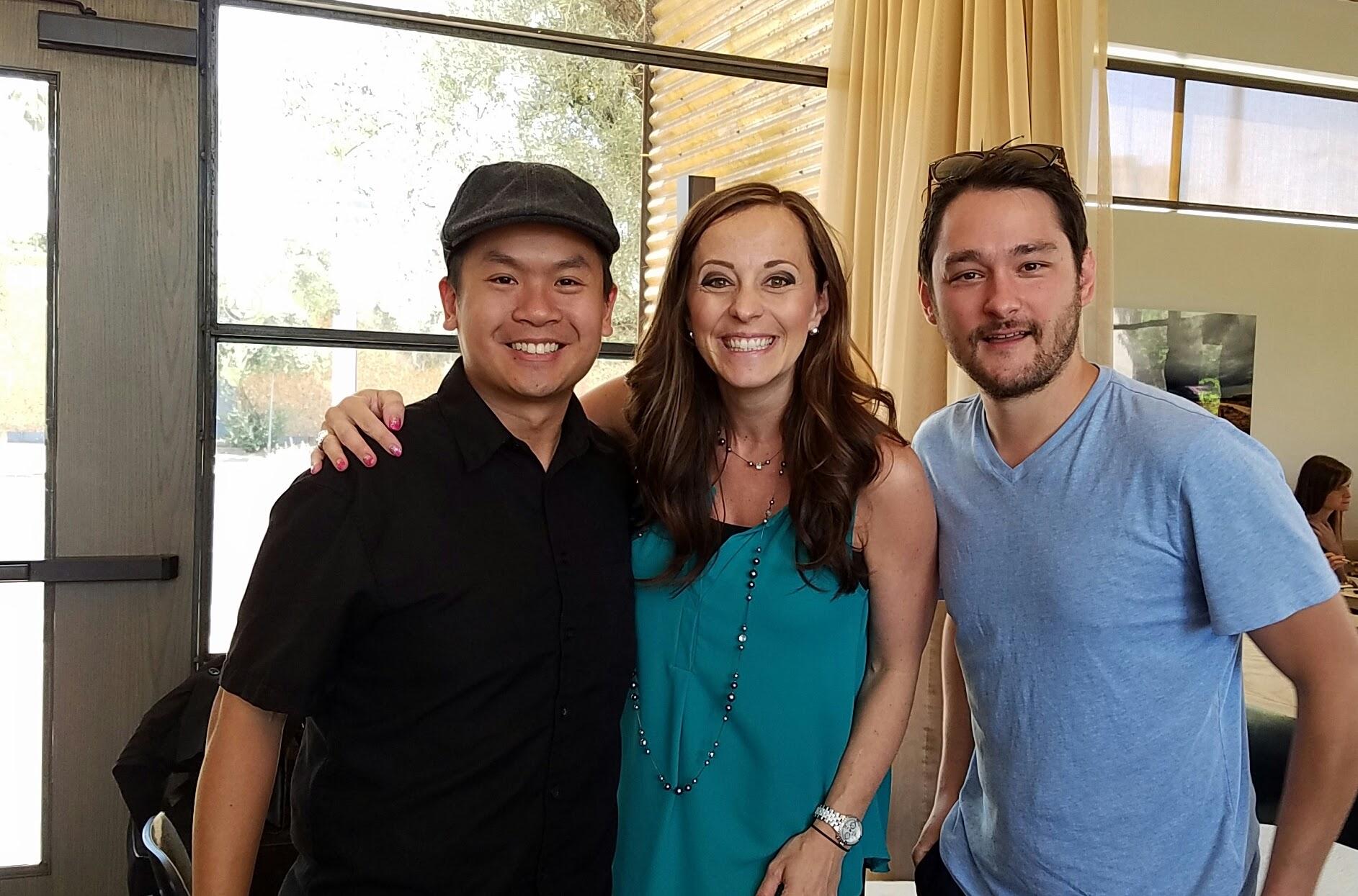 Andrew Gooi, Stephanie Sanstead and Chef Ryan Swanson