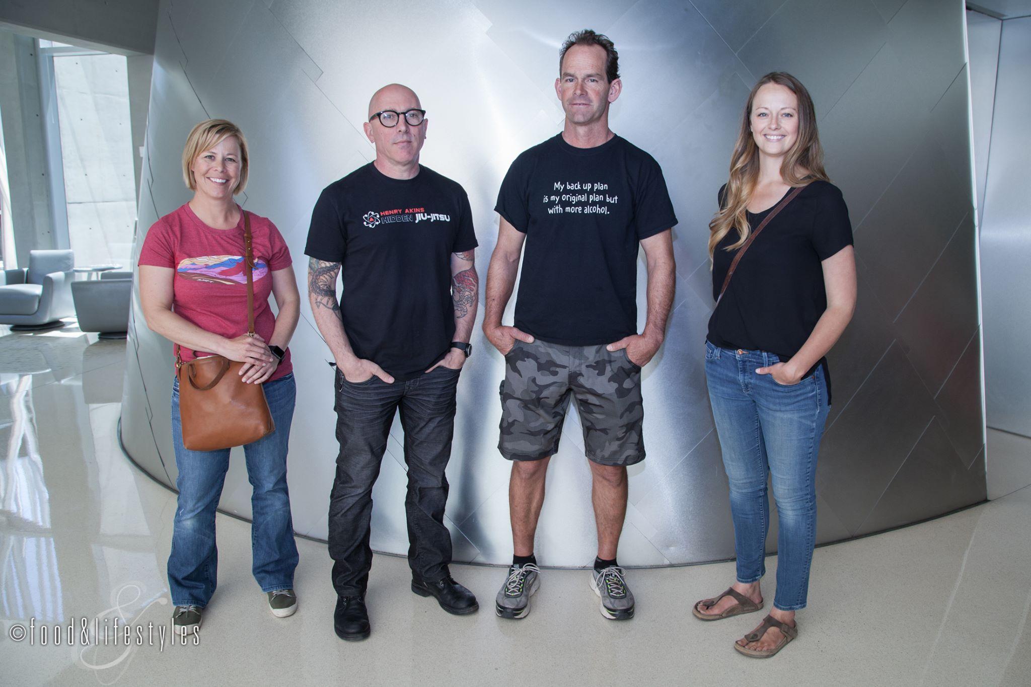 AVA founders Kelly Bostock, Maynard James Keenan, Kent Callaghan, and Sarah Hammelman