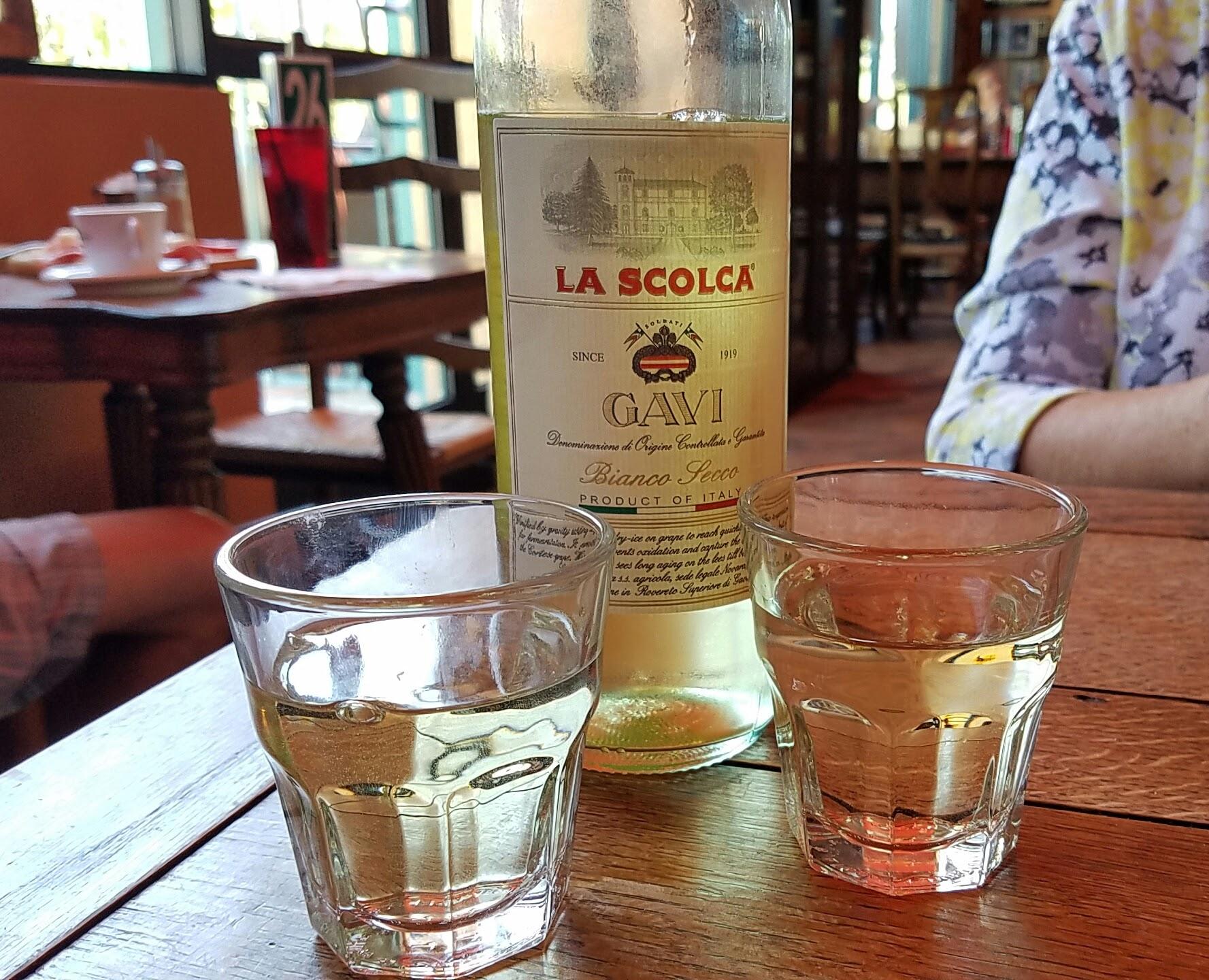 A bottle of La Scolca Gavi to share