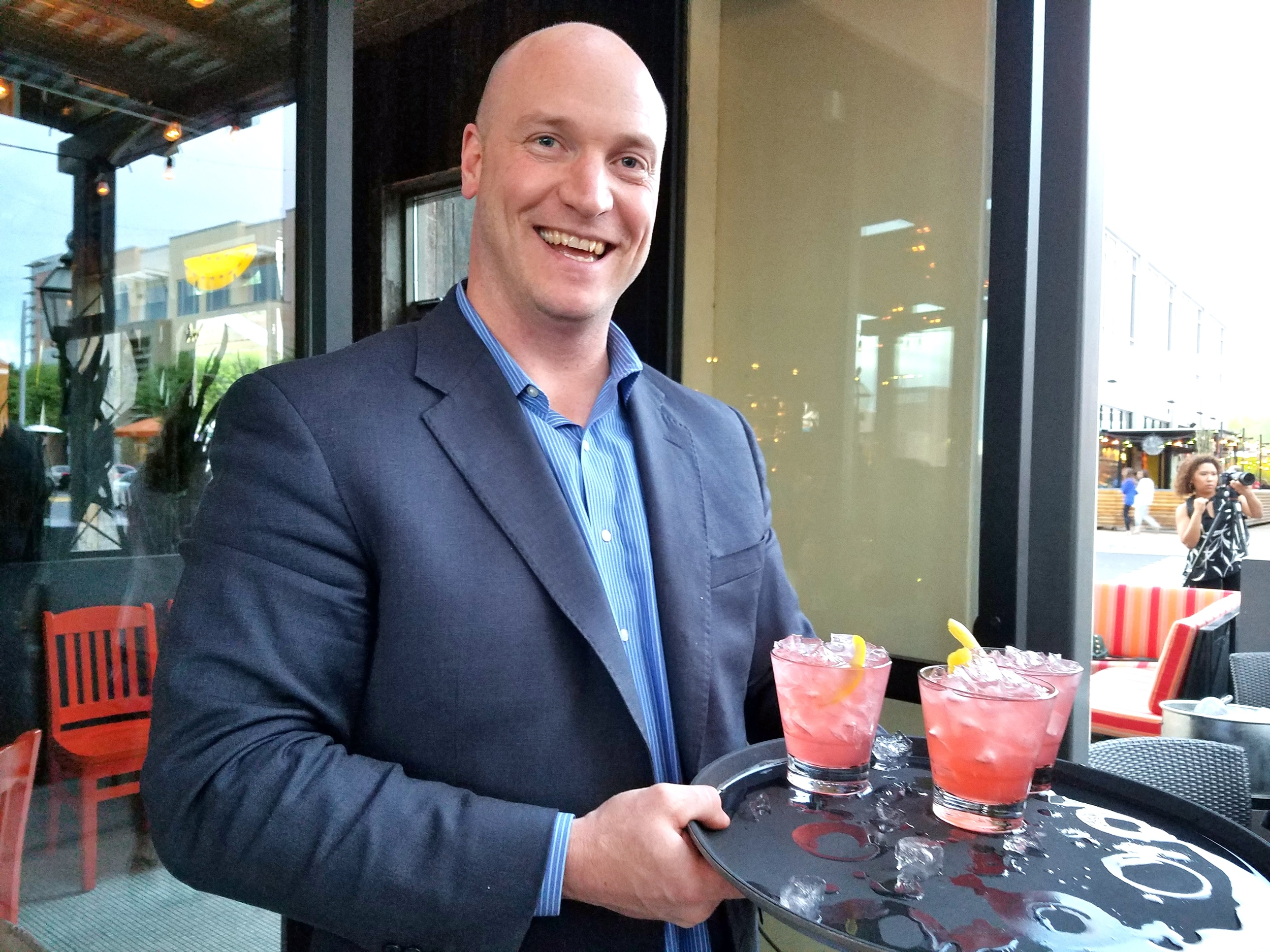 Kyle Mason of La Bocca with the refreshing Vino Spritz (watermelon, lemon, pinot grigio and vodka)