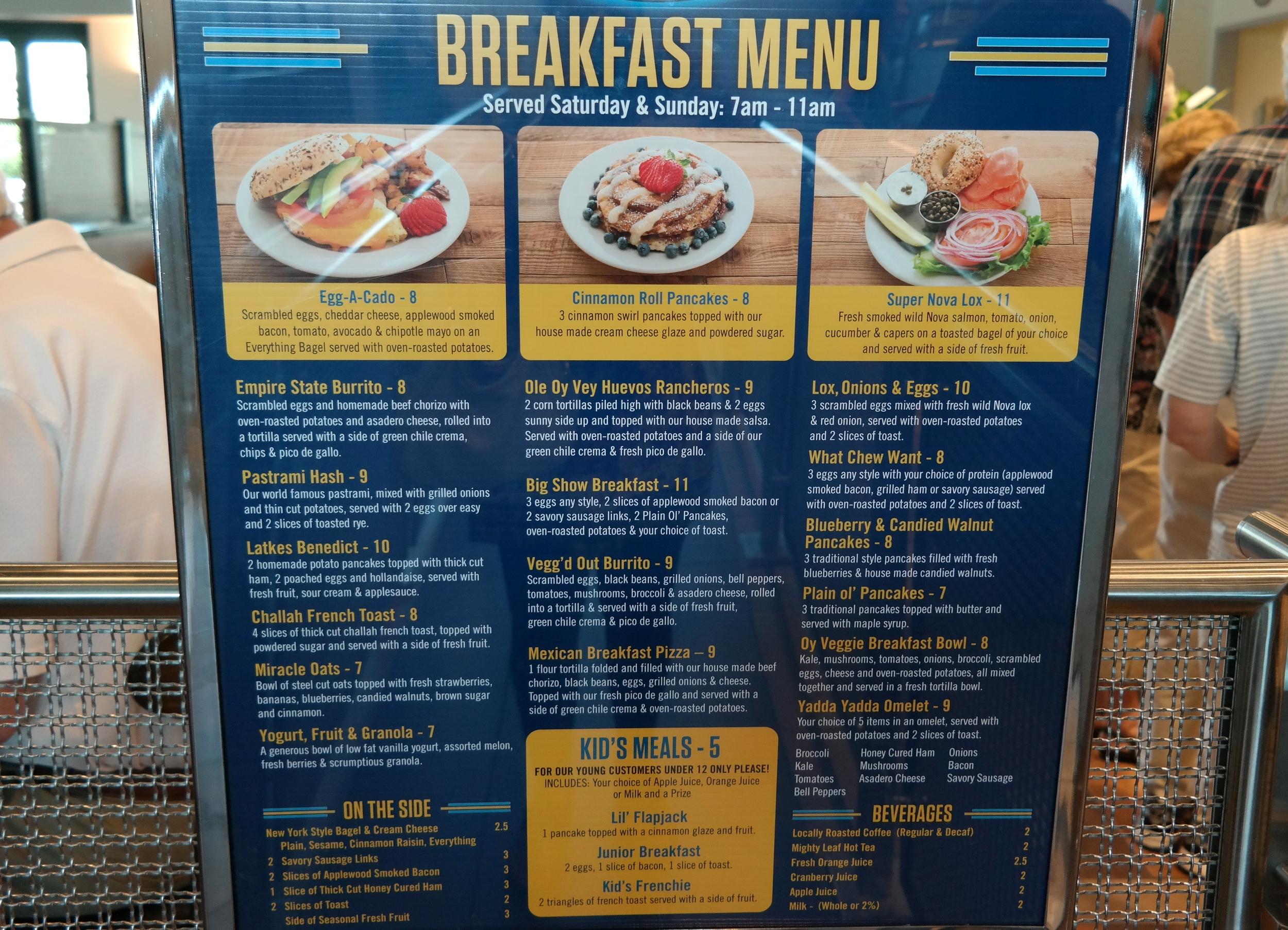 Miracle Mile Deli Breakfast
