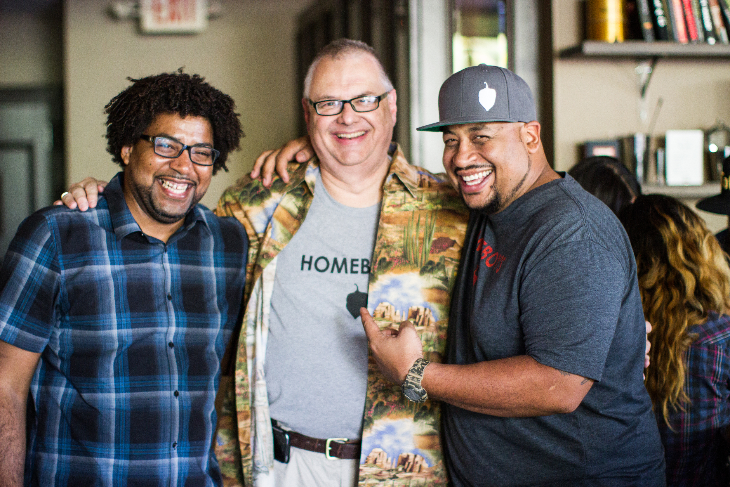 Chef Stephen Jones of The Larder + The Delta, Bob Briggs, and Jacob Cutino