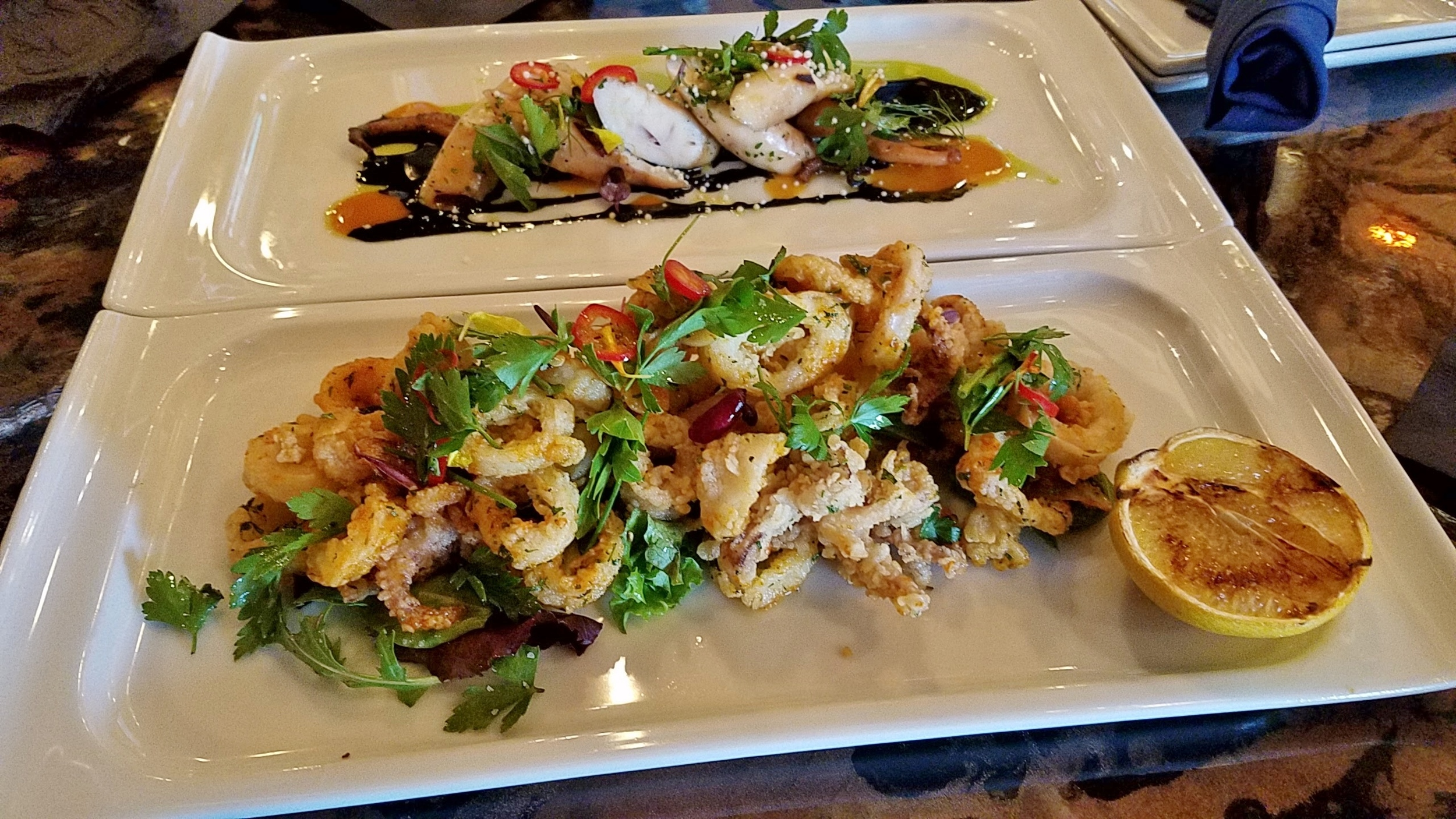 Calamari and Octopus