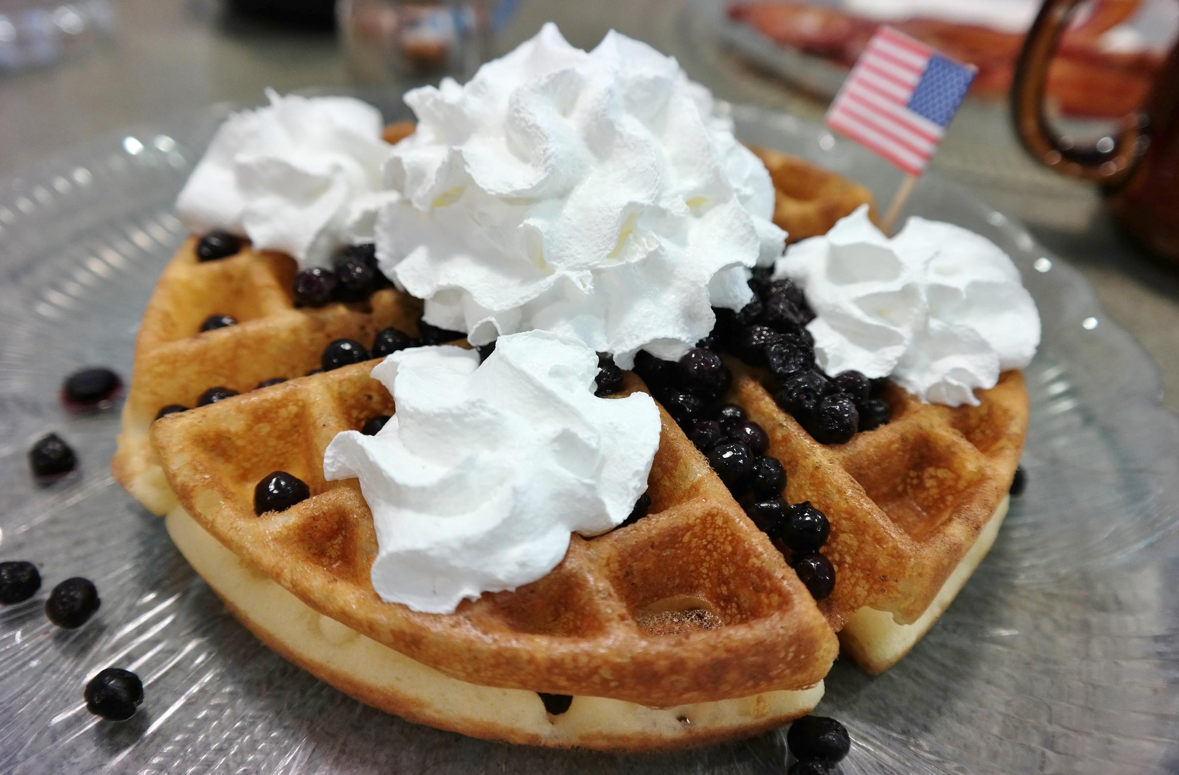 US Egg gluten free waffle