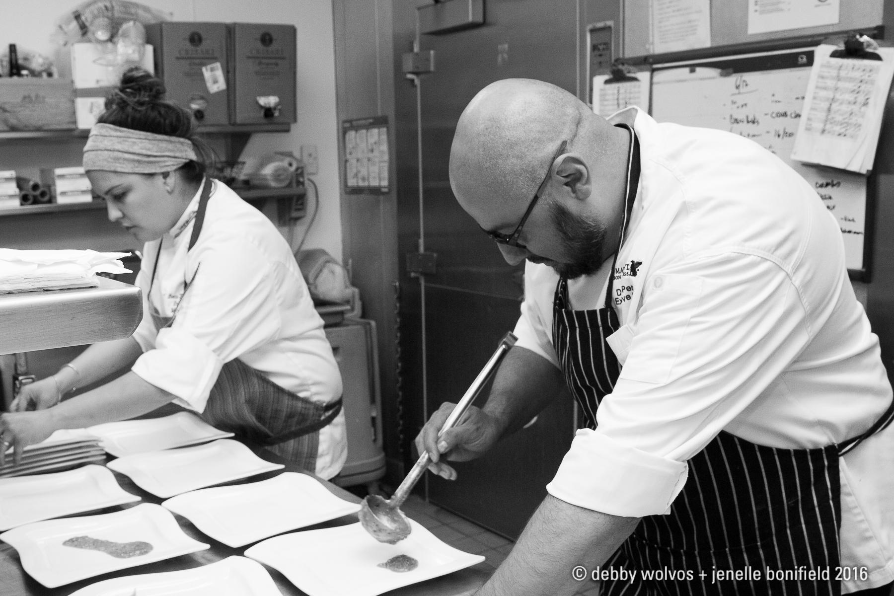 Chefs Danny Perez and Maria Mazon