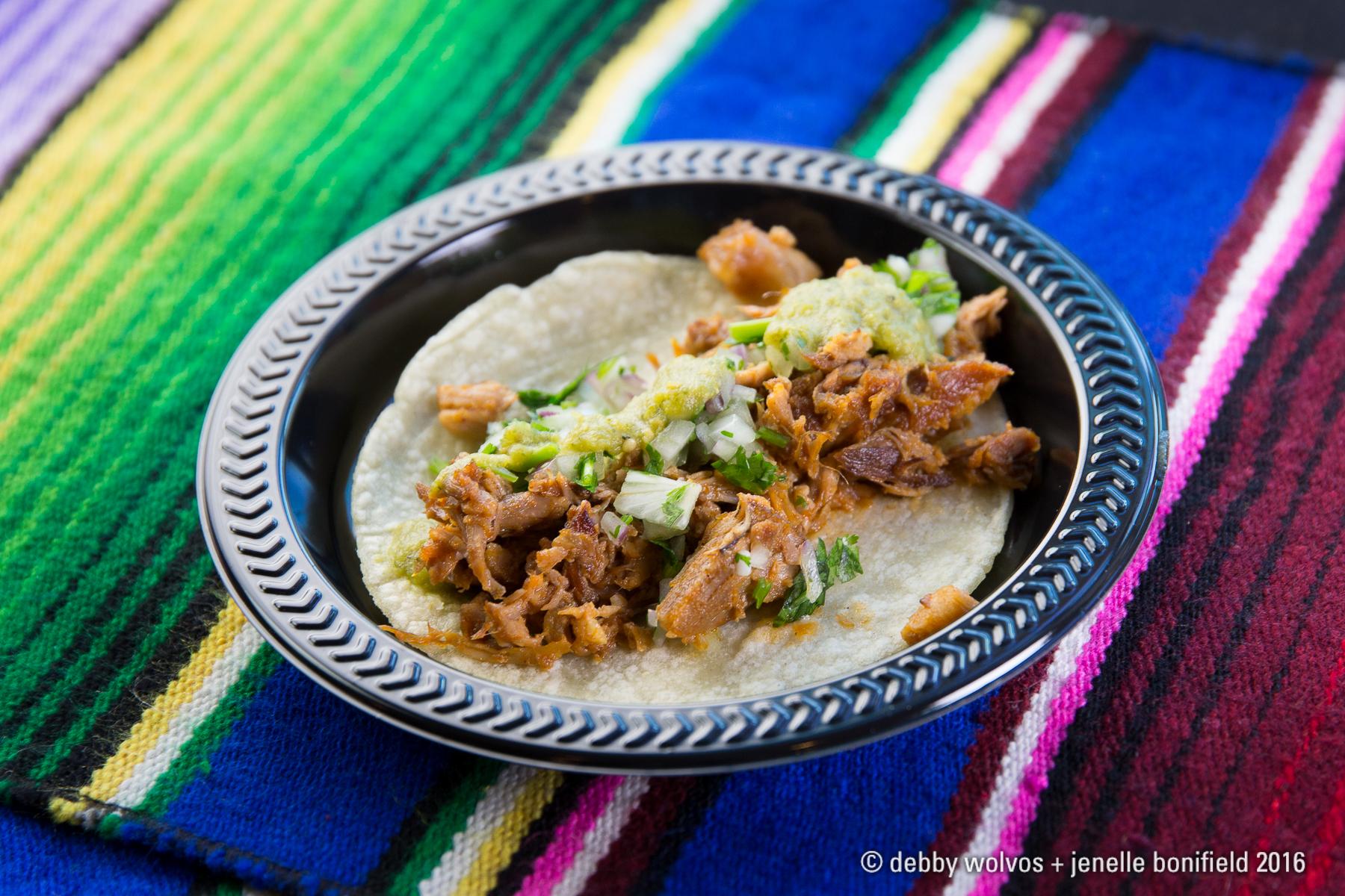 Carnitas taco with salsa verde - Calle Tepa