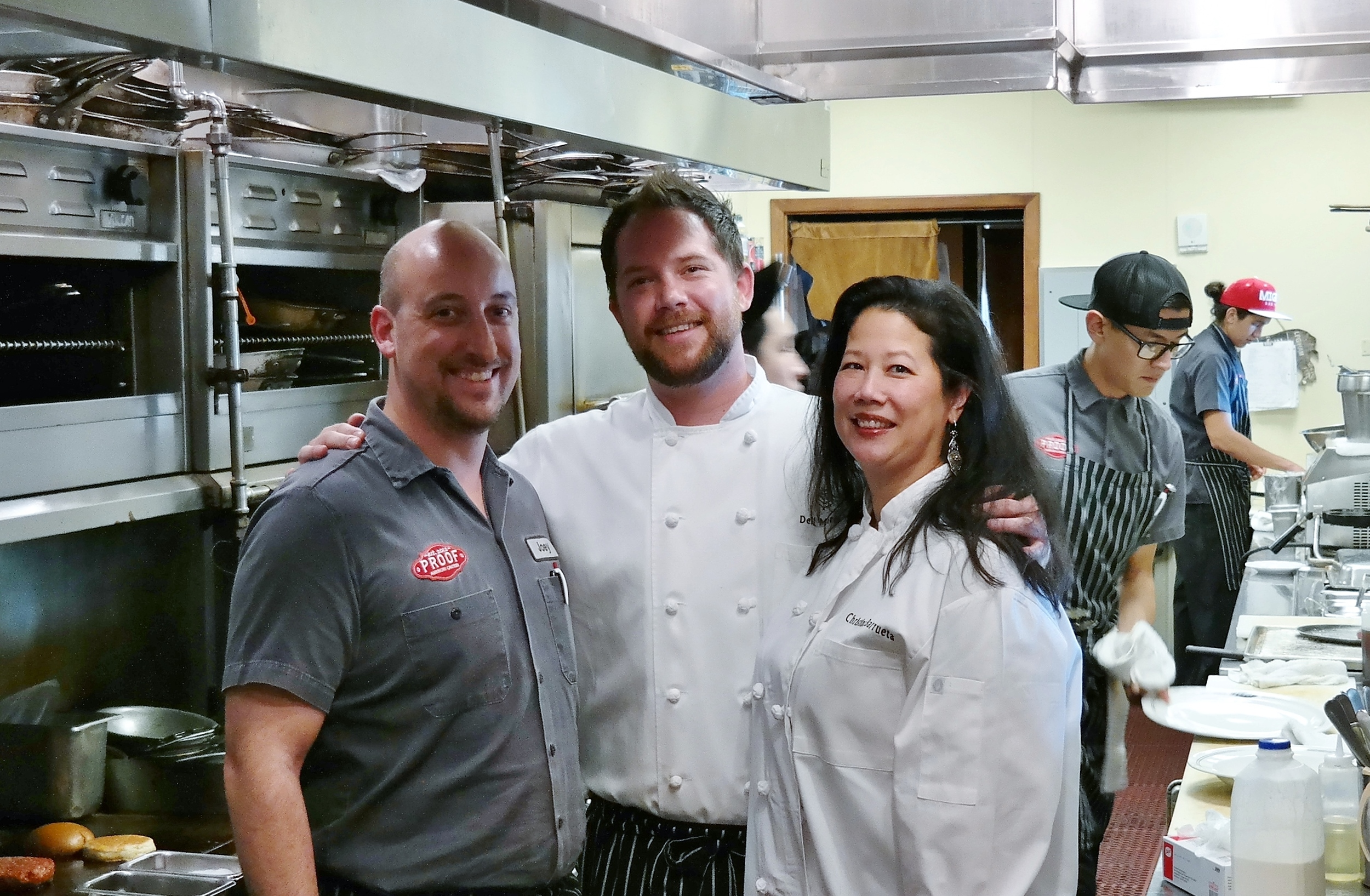With Chefs Joey Cavaretta and Dell Morris of Proof at the Four Seasons Scottsdale