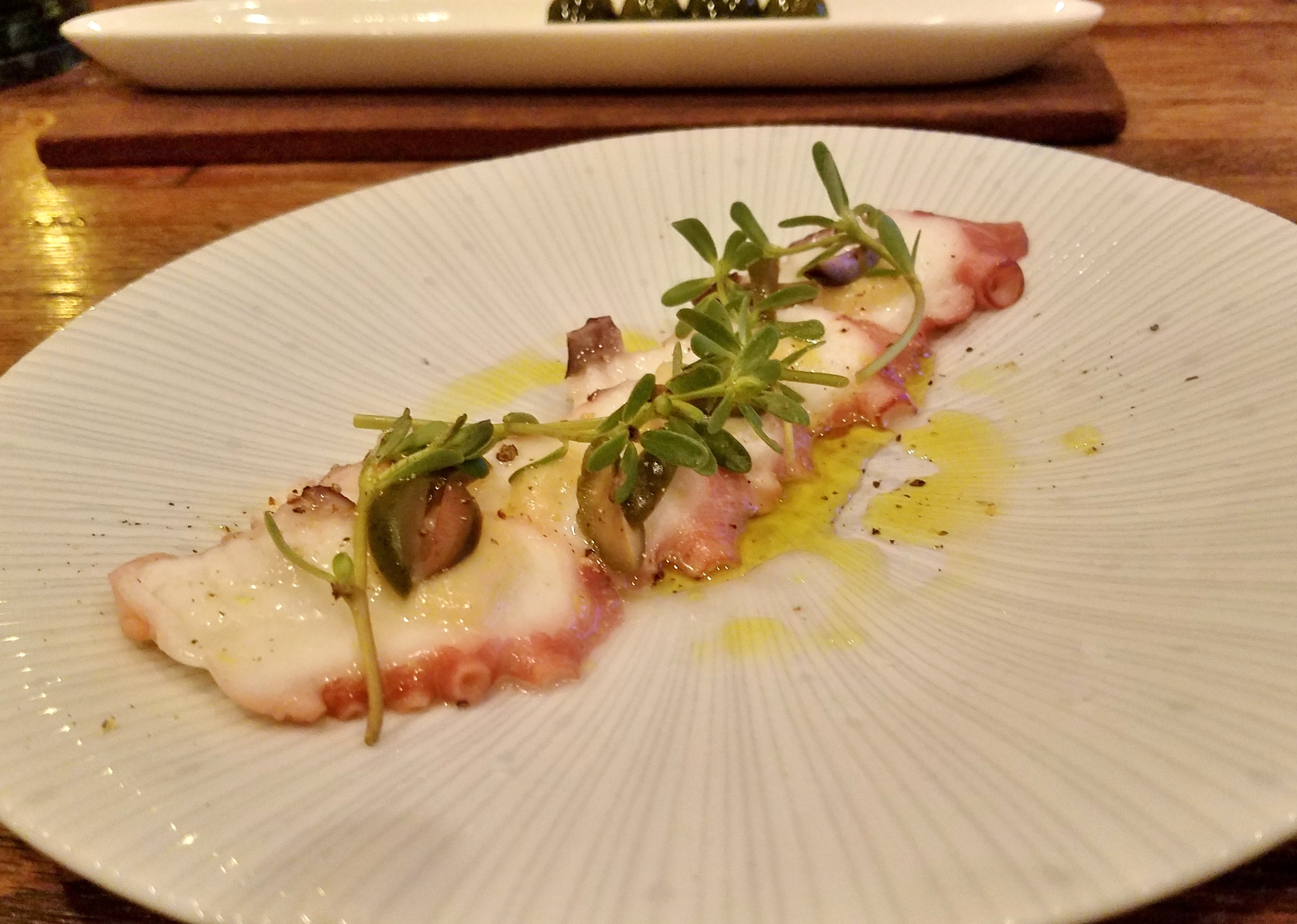 Octopus with pickled garlic