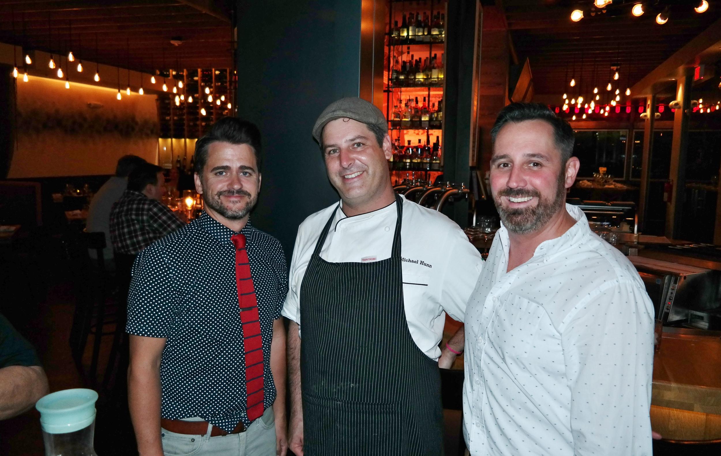 Bar Manager Garrit Gutherie, Chef Michael Hunn, and Manager Matt Keeler.