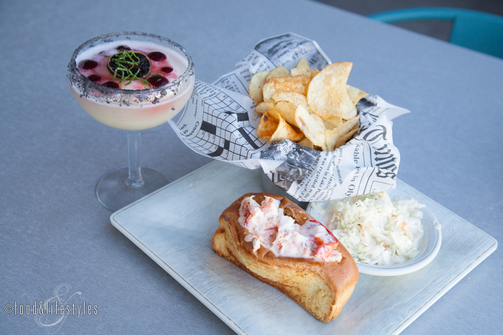 Riptide Margarita and the Lobster Roll