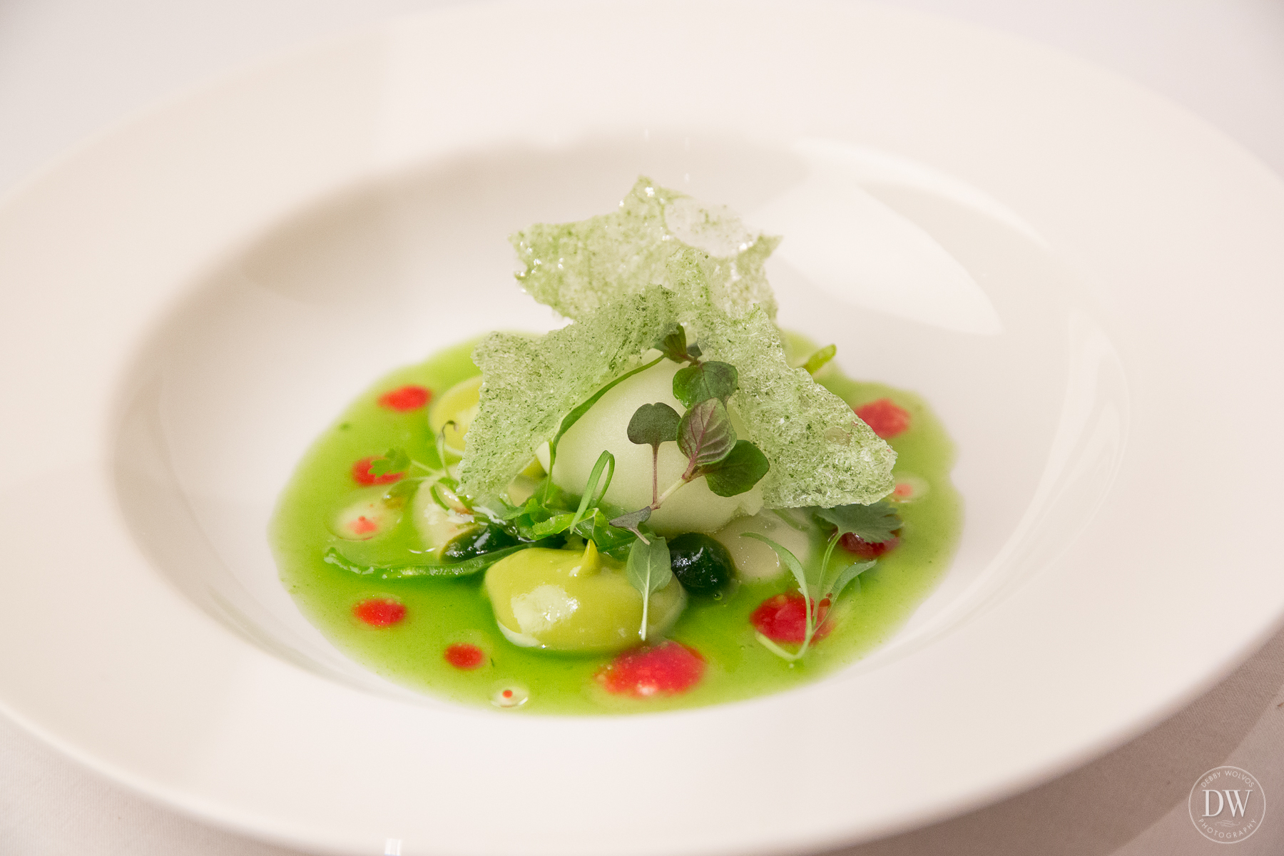 Green Chromaticism at the El Celler de Can Roca dinner  (photo by Debby Wolvos)