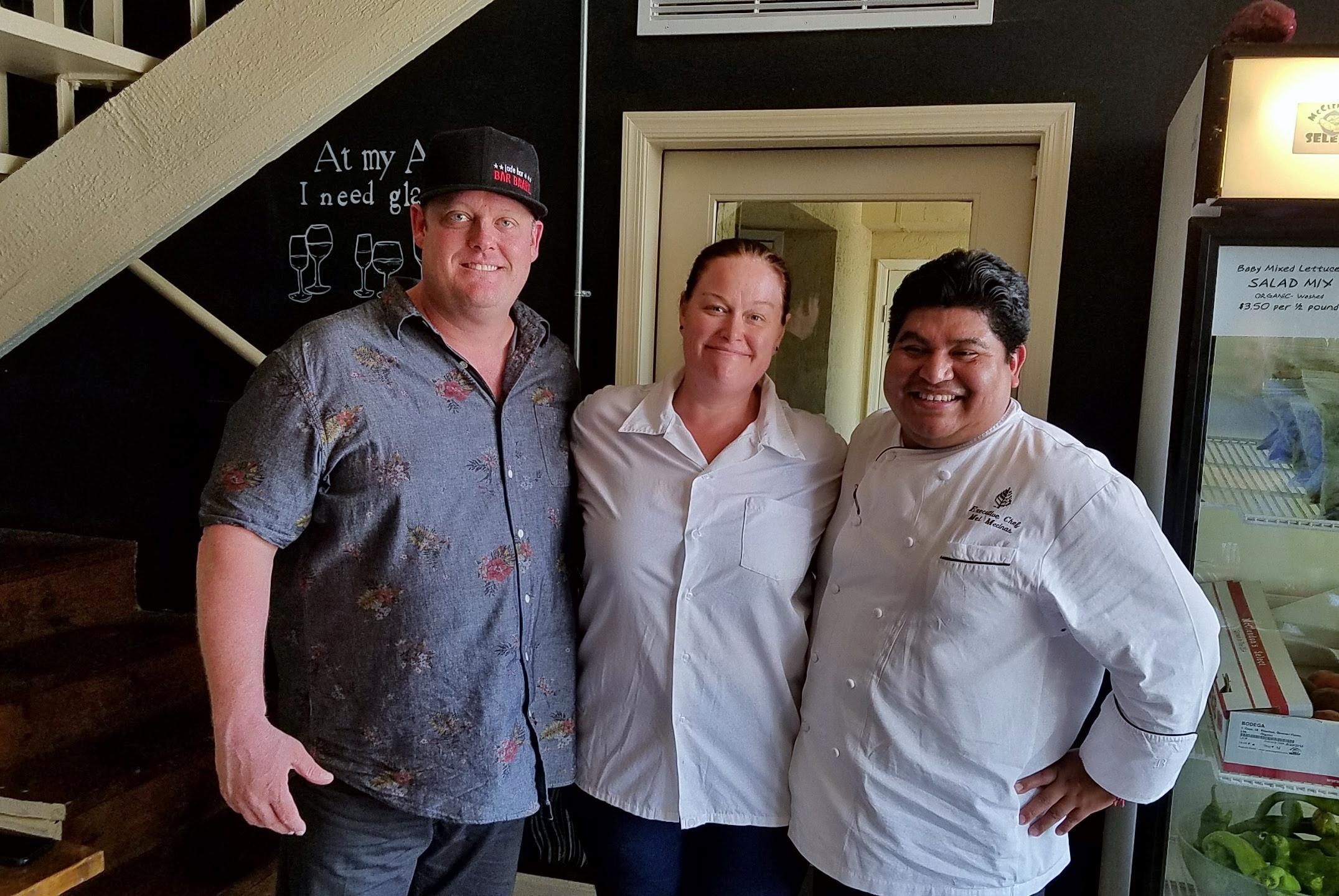 Chef MacMillan, Chef Badman, and Chef Mel Mecinas