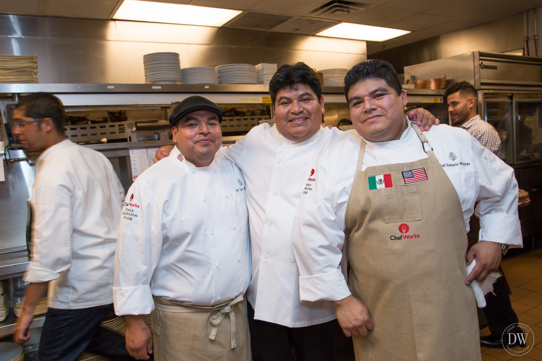 Chefs Juan, Mel, and Honorio Mecinas