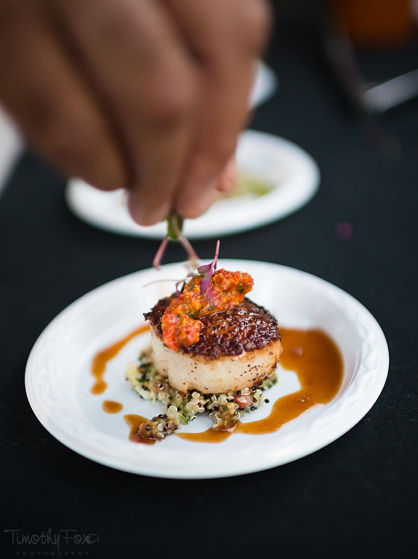 Chef DeMuro's scallop