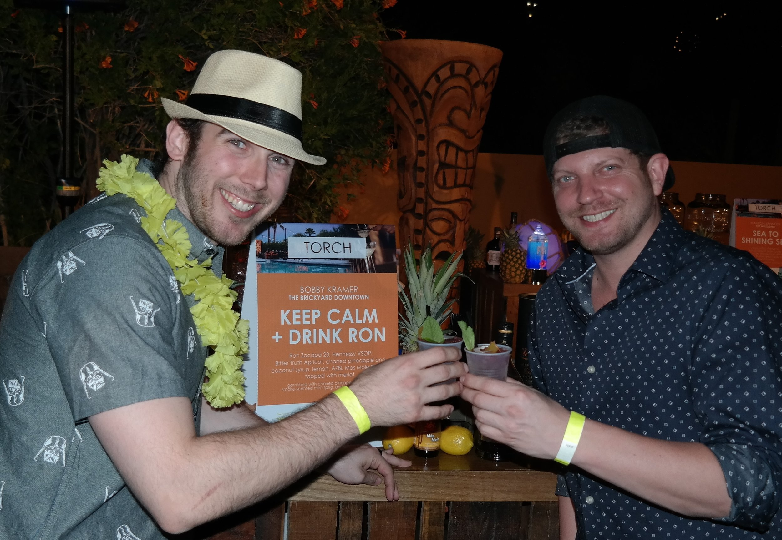 Beverage Director Bobby Kramer and co-owner Gavin Jacobs of the Brickyard Downtown in Chandler