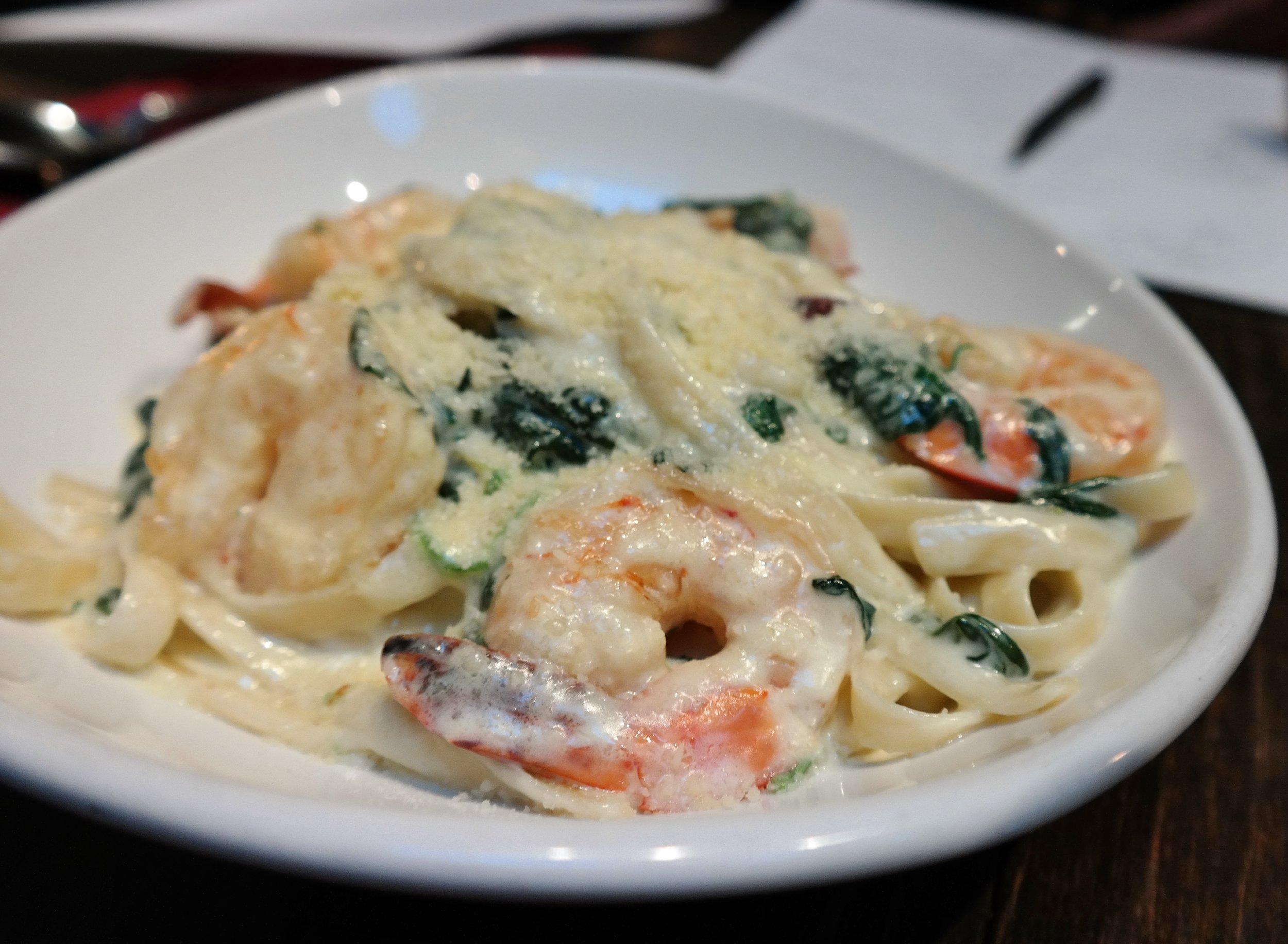 shrimp florentine alfredo