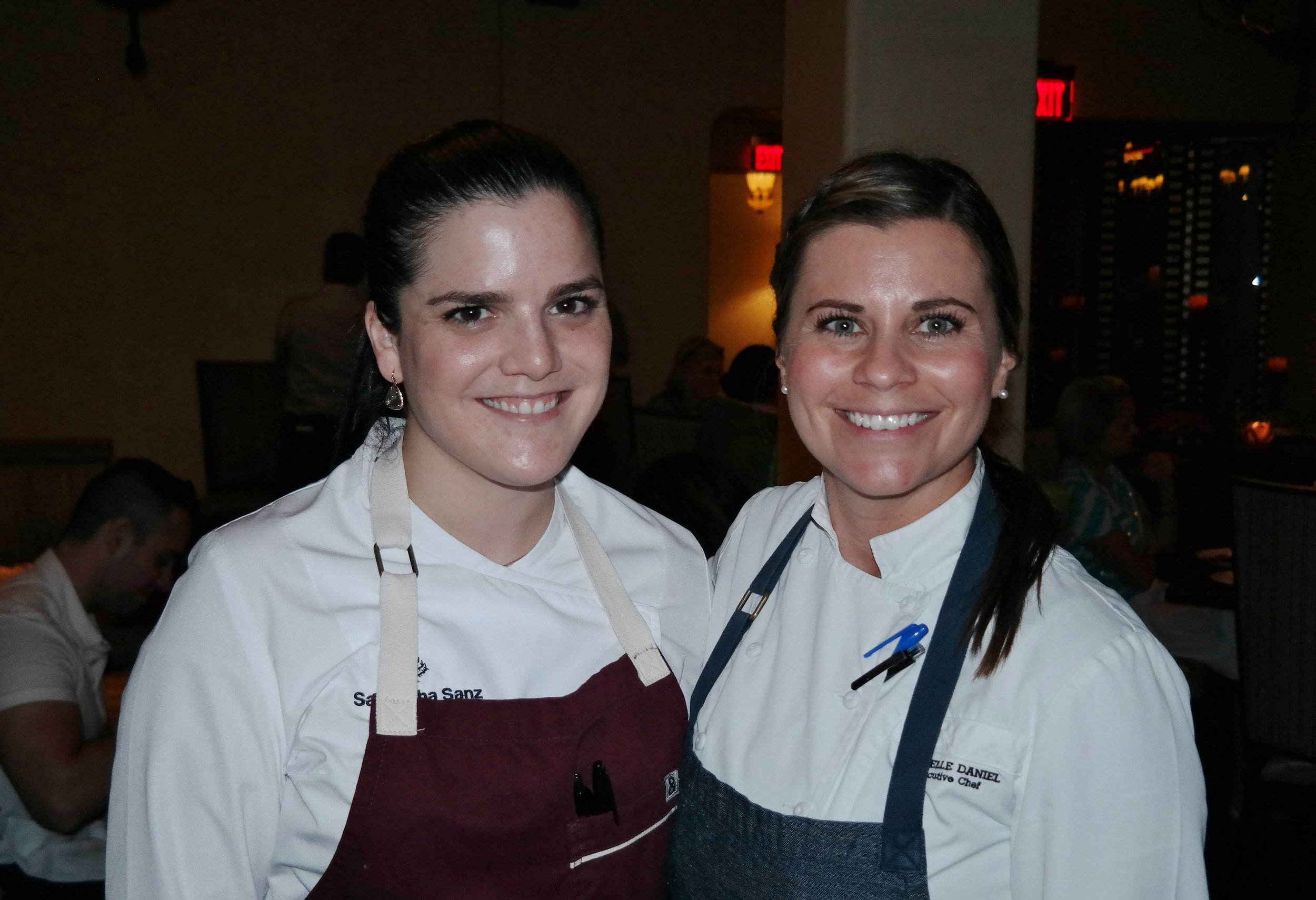 Chefs Samantha Sanz and Rochelle Daniel