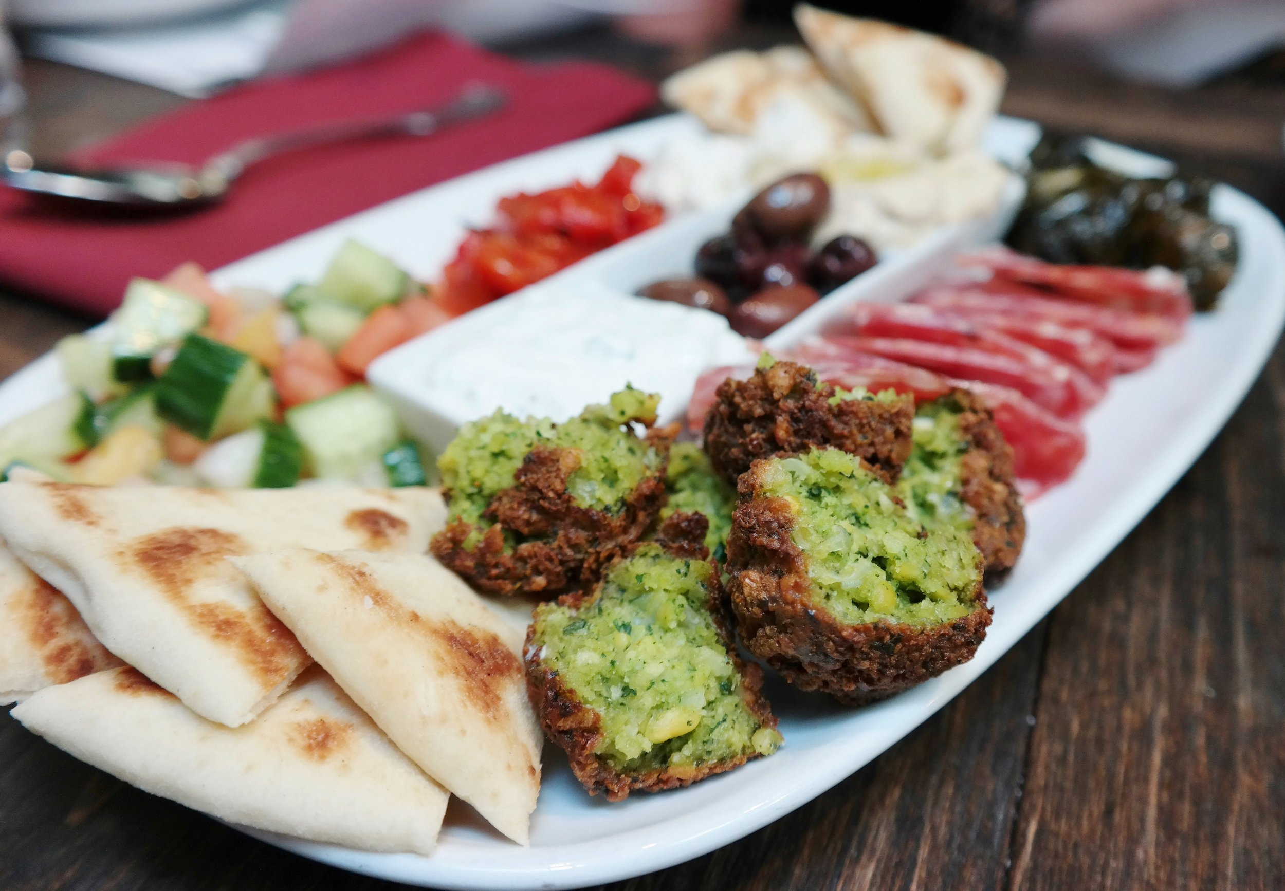 Char Kitchen Mediterranean board
