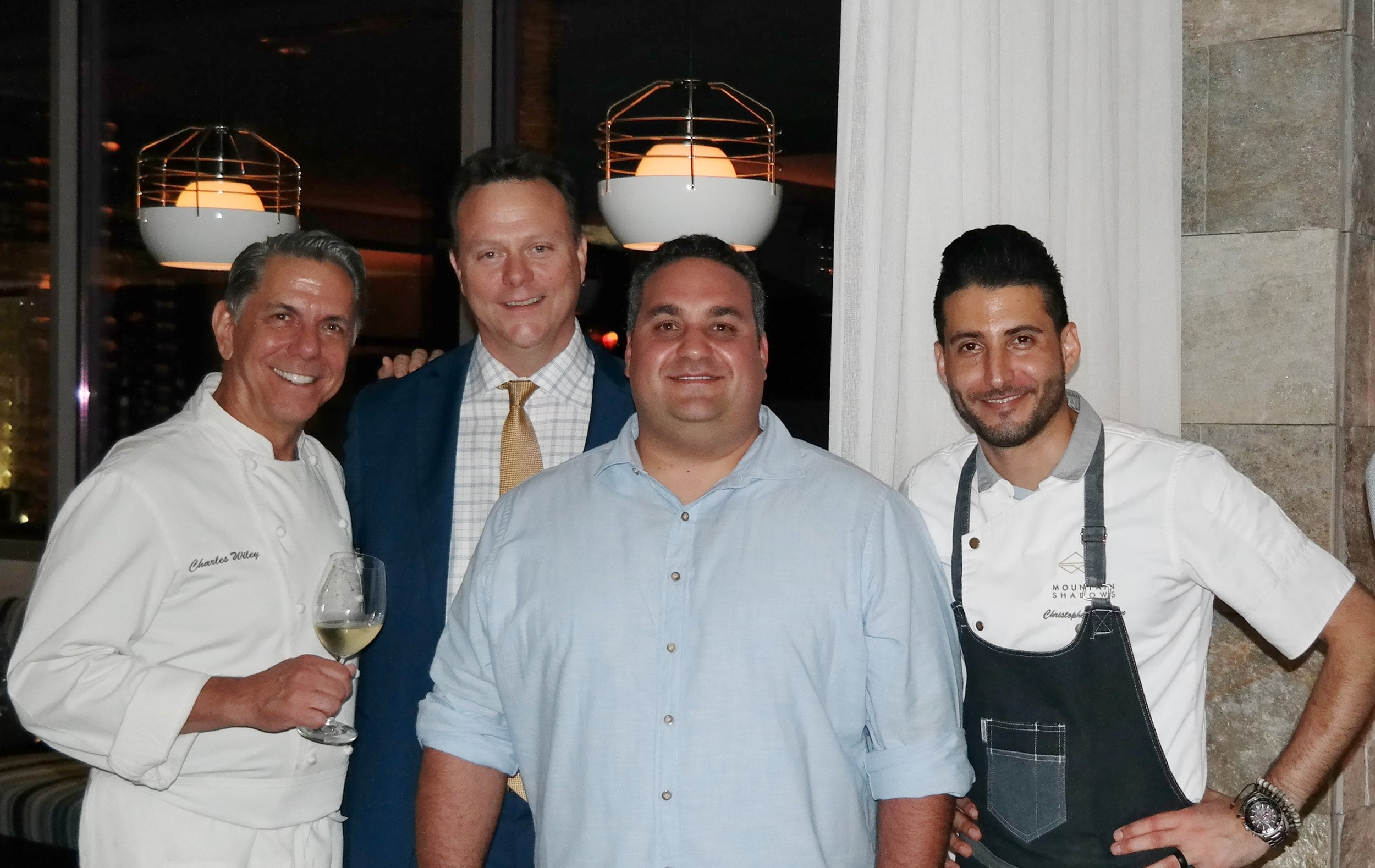 Executive Chef Charles Wiley, Food and Beverage Director Jim Gallen, Jason Raducha of Noble Bread, and Executive Sous Chef Christopher Brugman