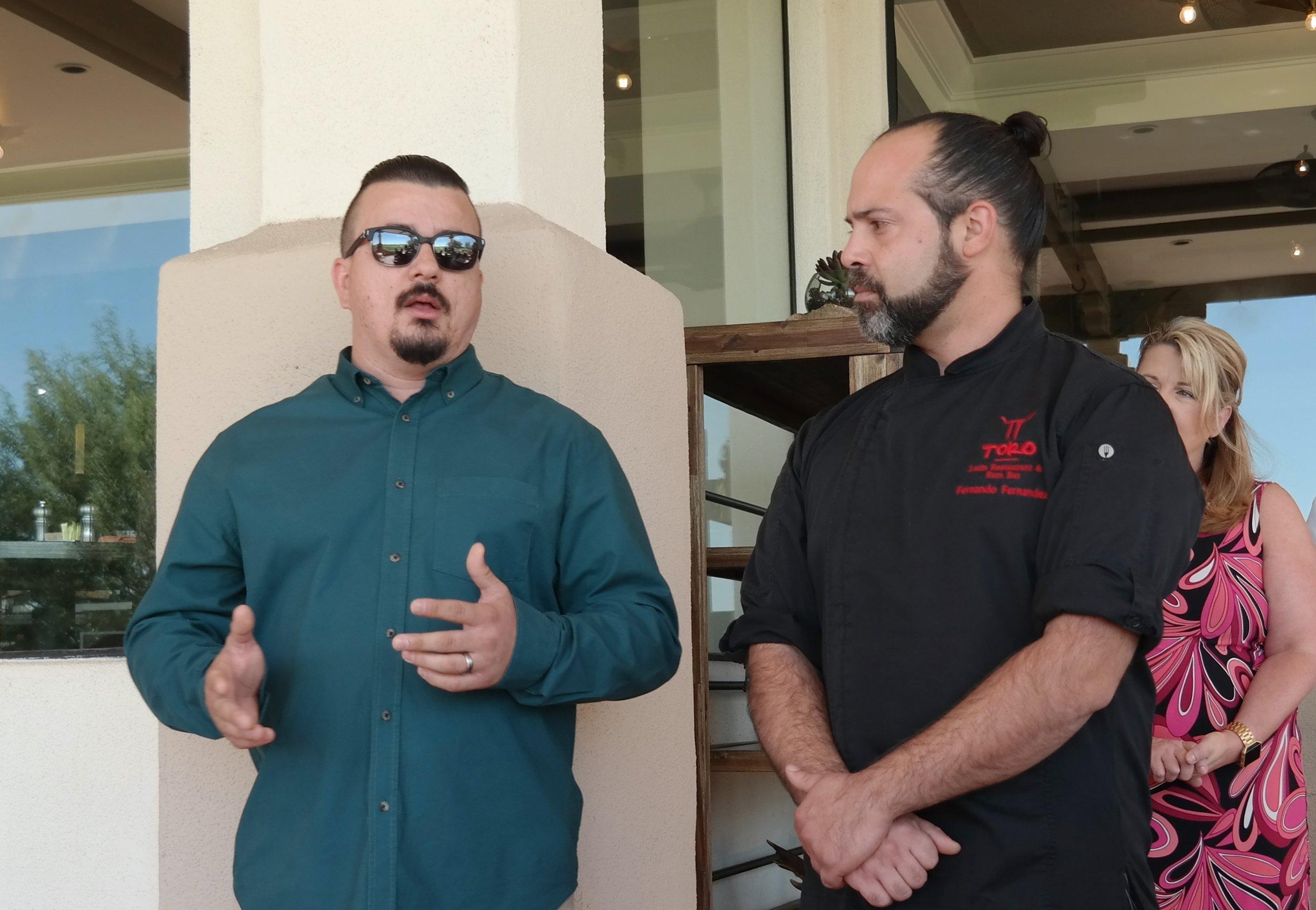 Miljan Vidovic and Chef Fernandez