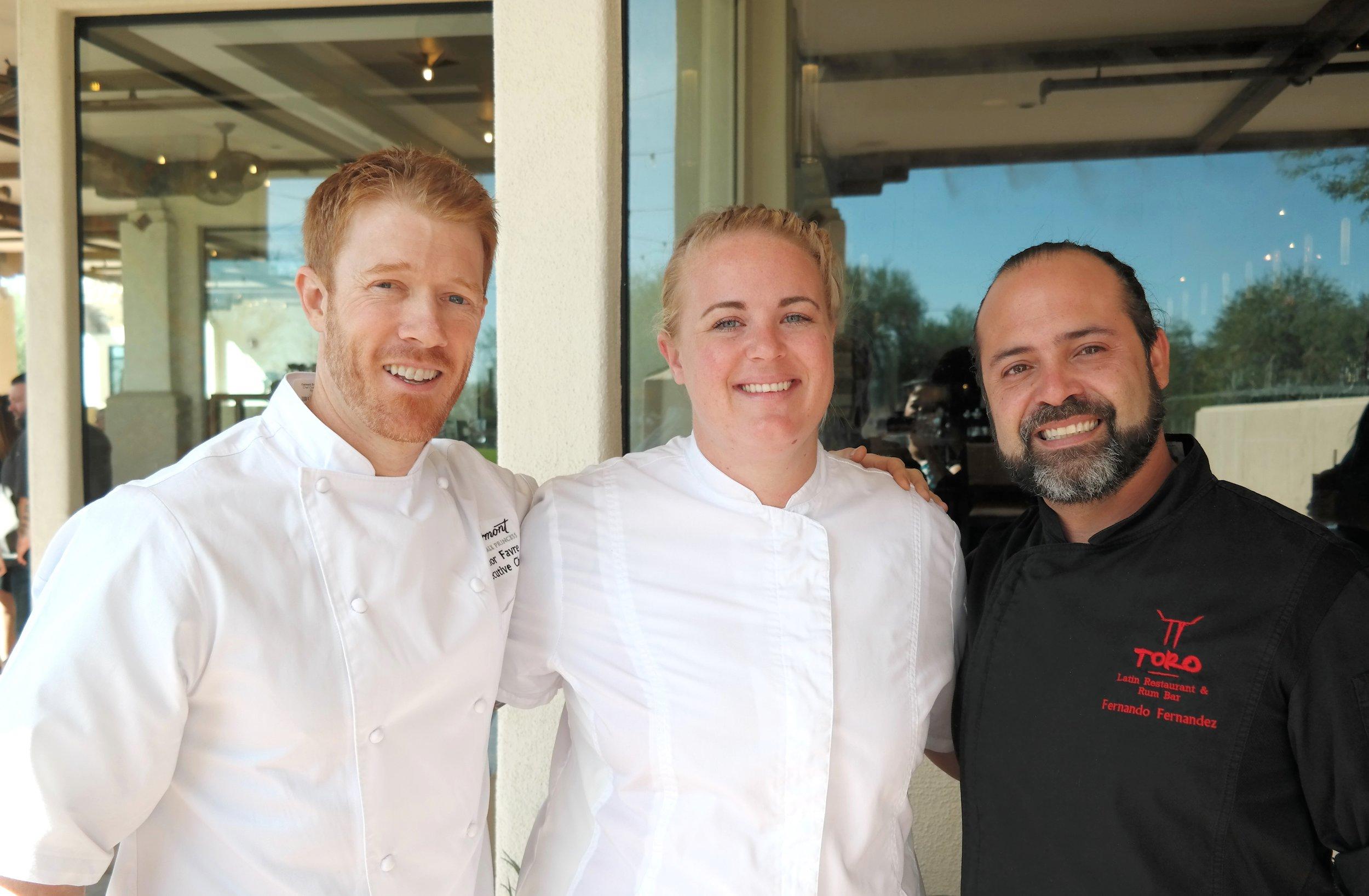 Chefs Favre, Garrant, and Fernandez