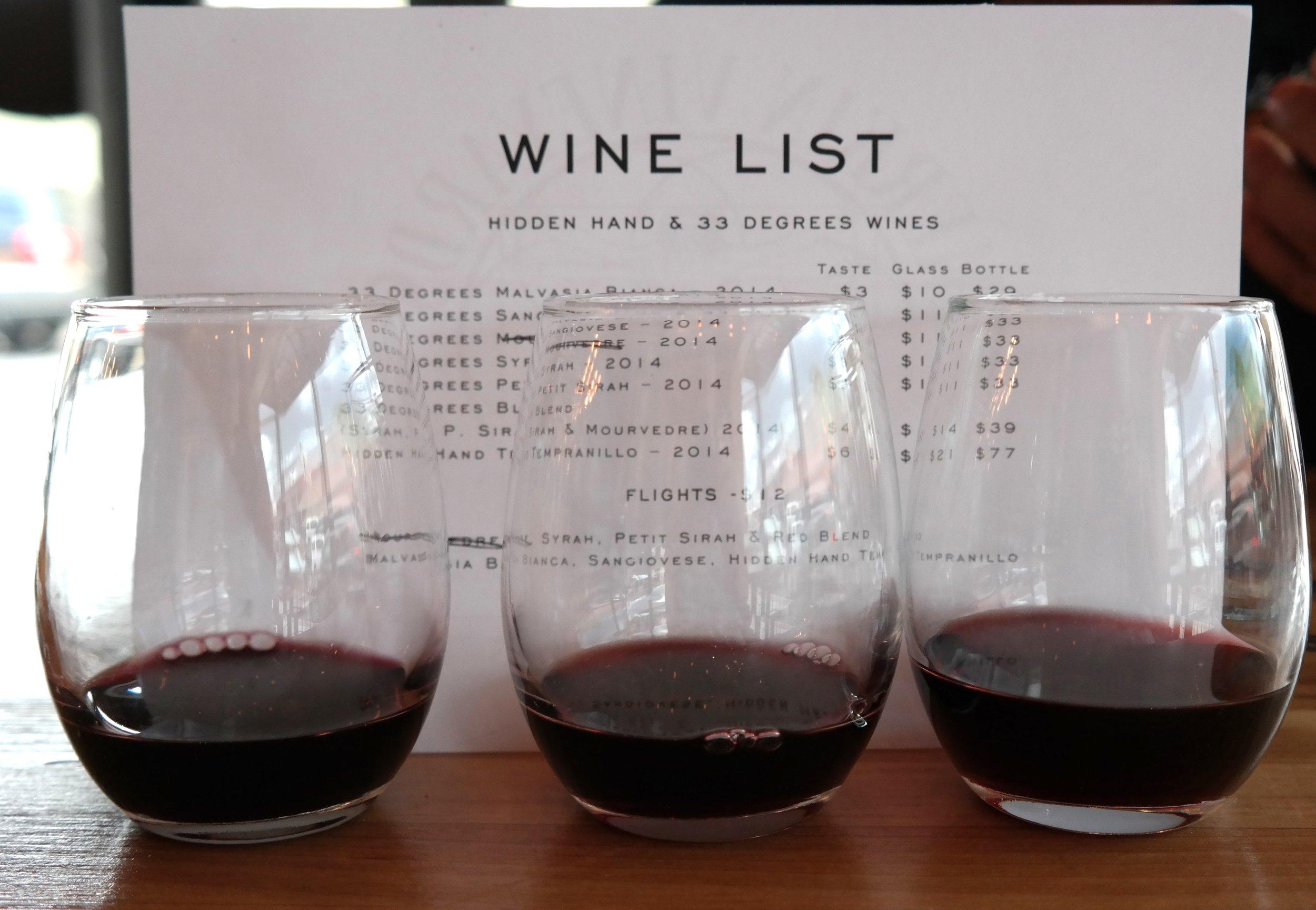 Merkin Wine Flights Cottonwood
