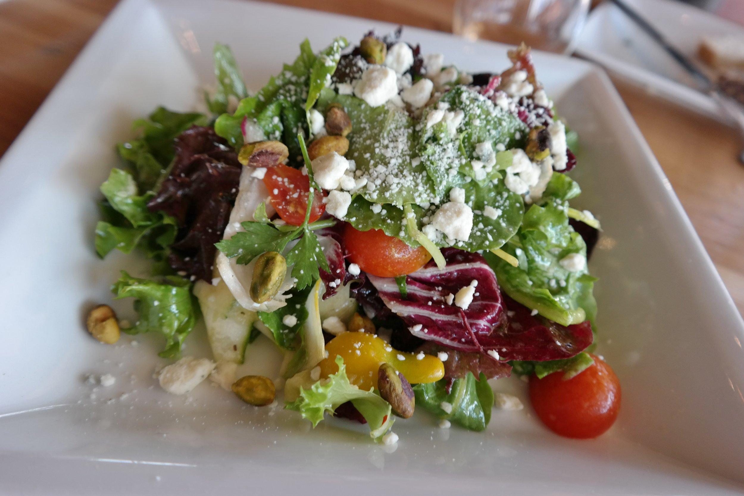 Seasonal salad at Merkin Osteria