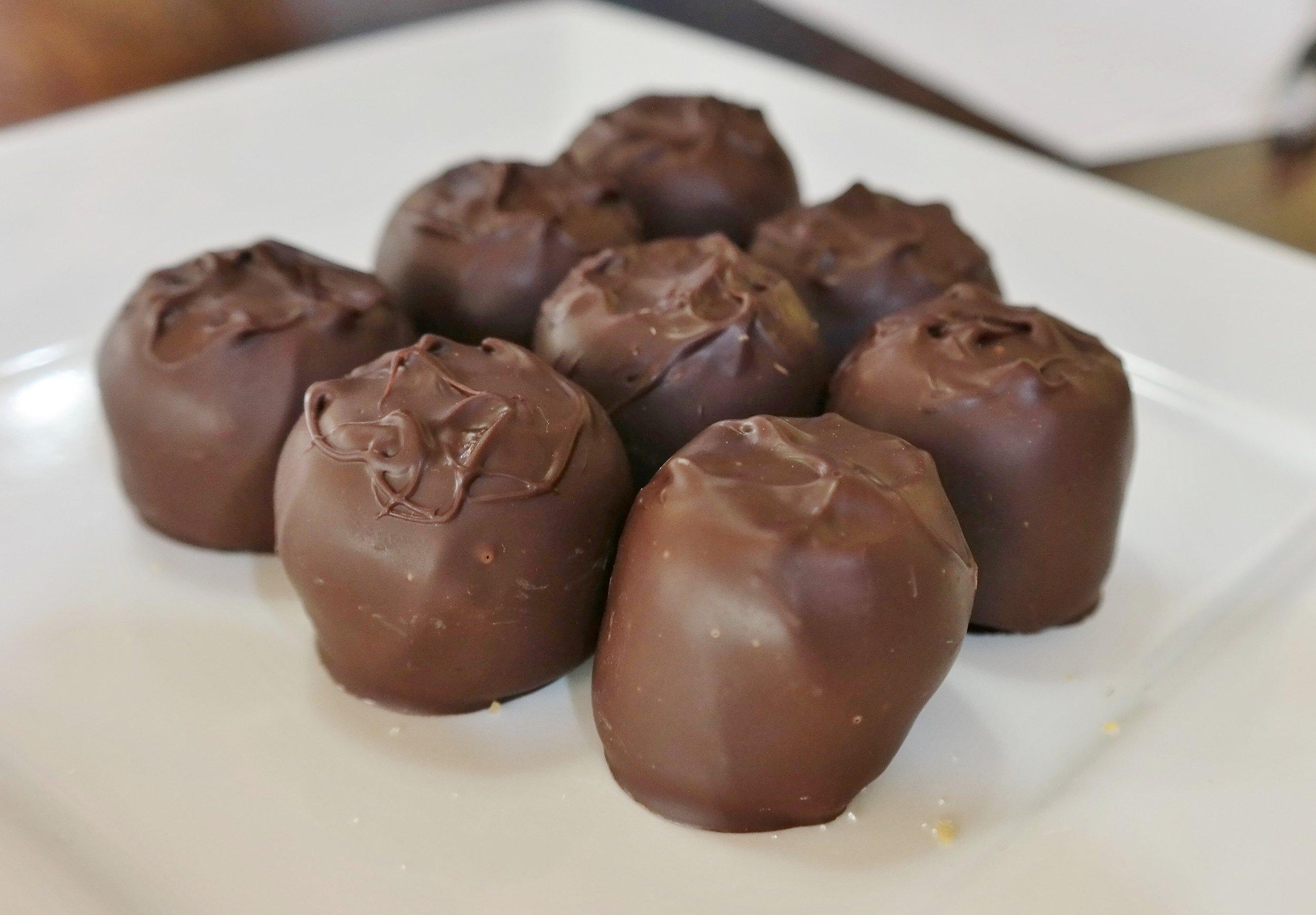 Cabernet wine truffles
