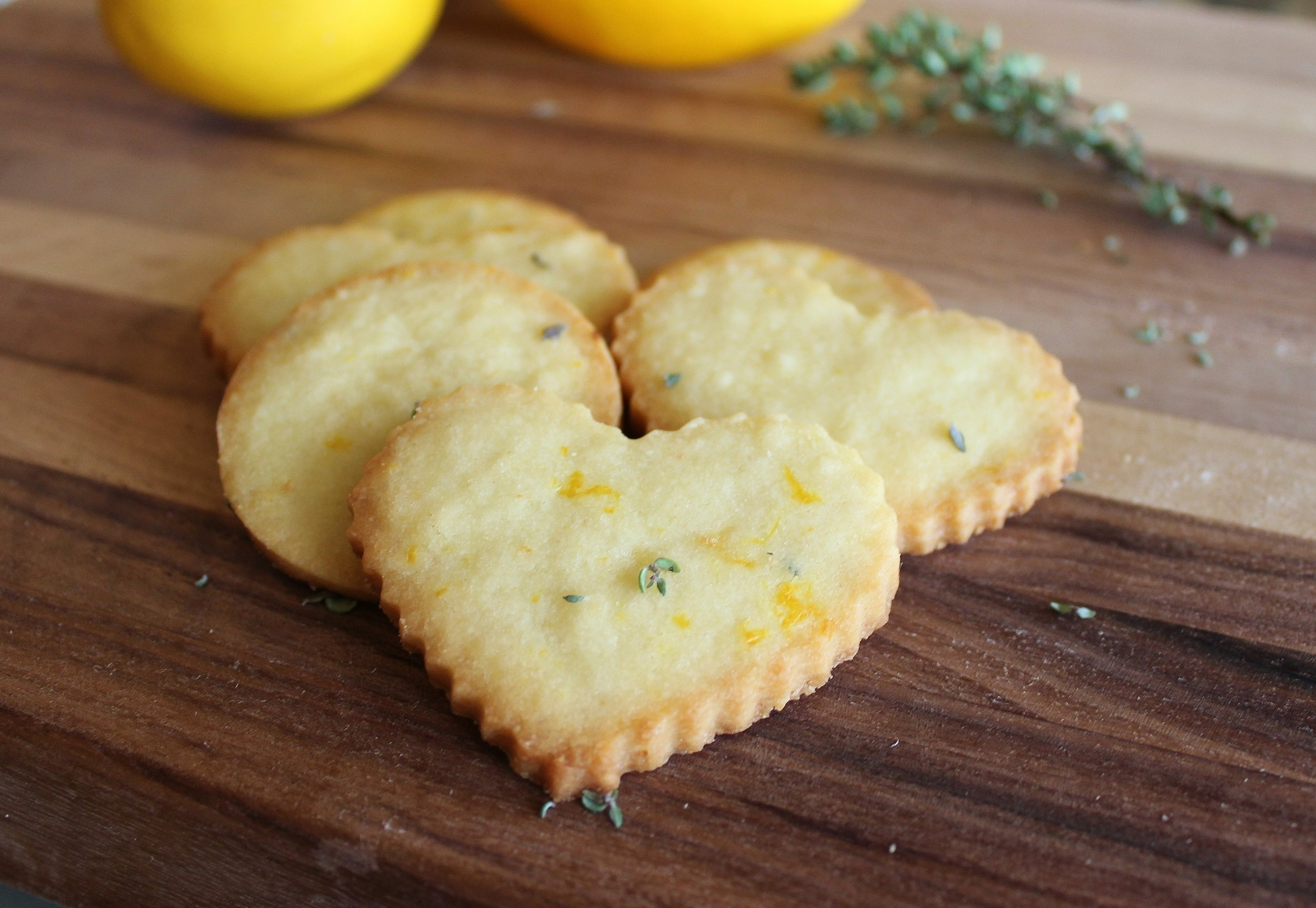 meyer lemon shortbread cookies