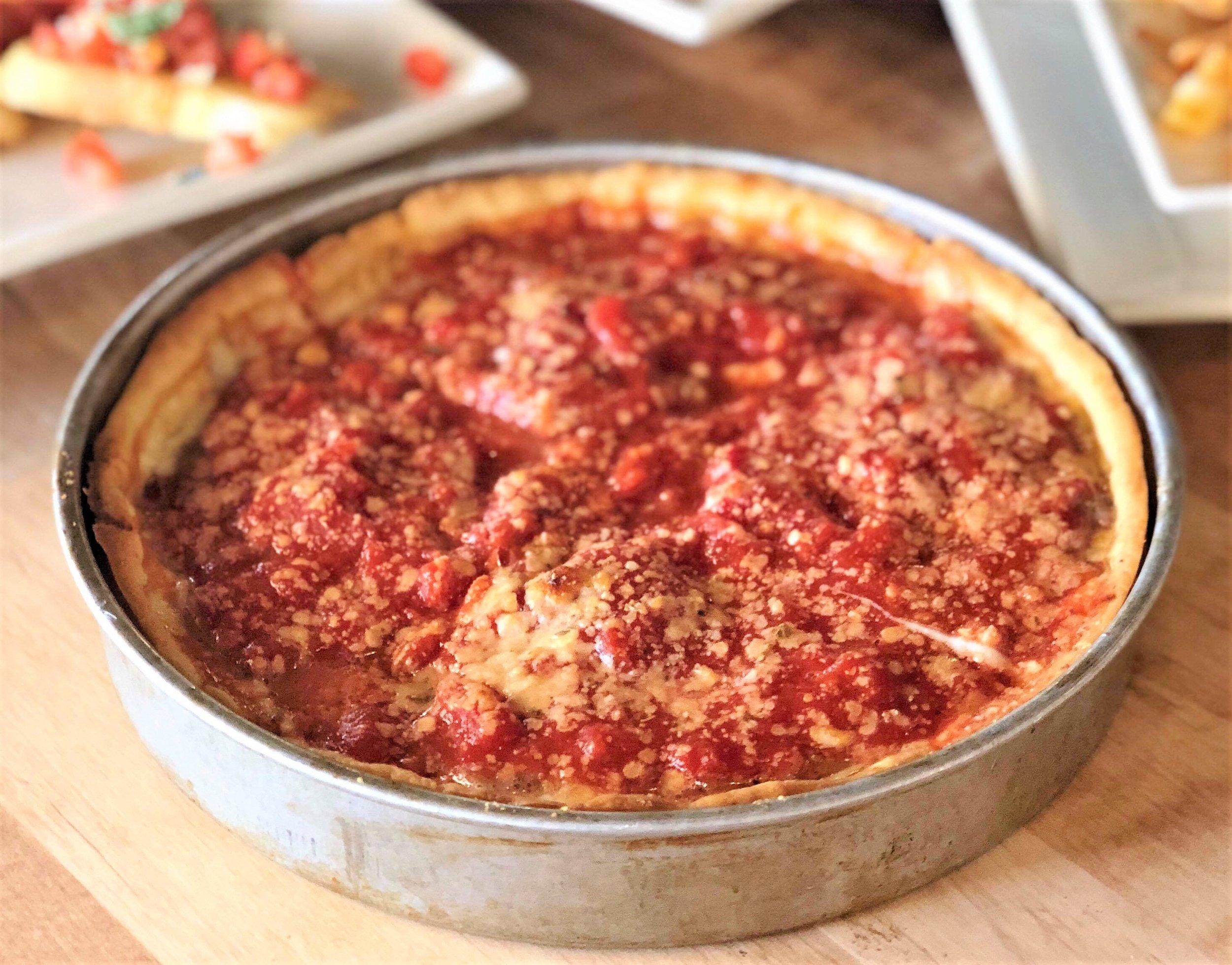 The Malnati Chicago Classic deep dish pizza