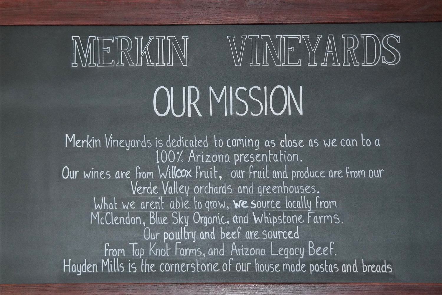Merkin Osteria in Cottonwood