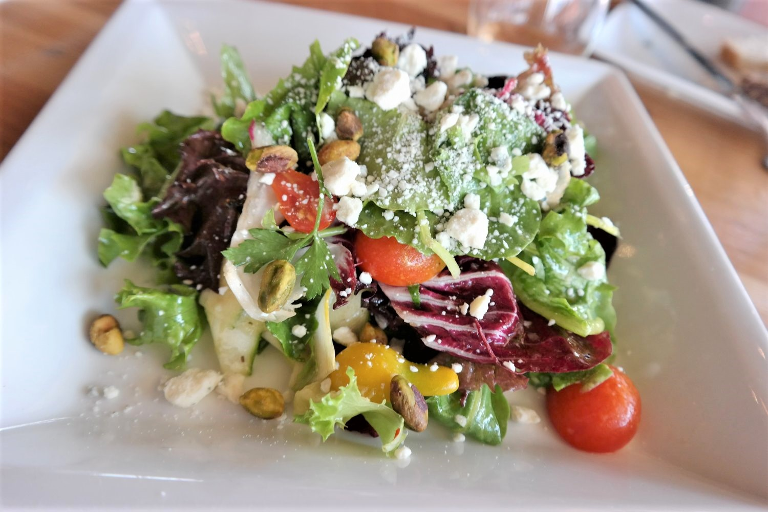 A July seasonal salad at Merkin Osteria