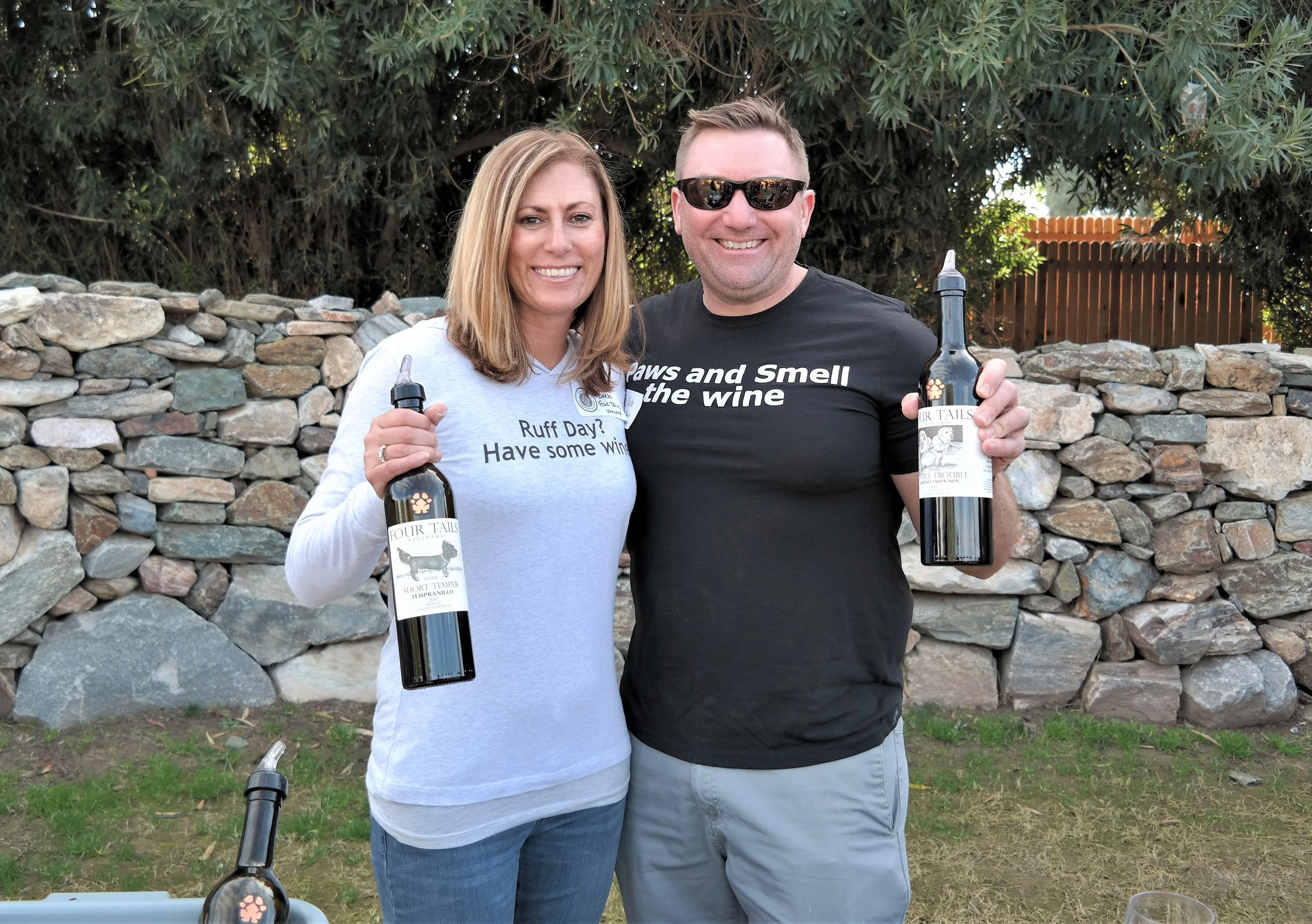 Barb and Cale Coons of Four Tails Vineyard ( photo: Write On Rubee )