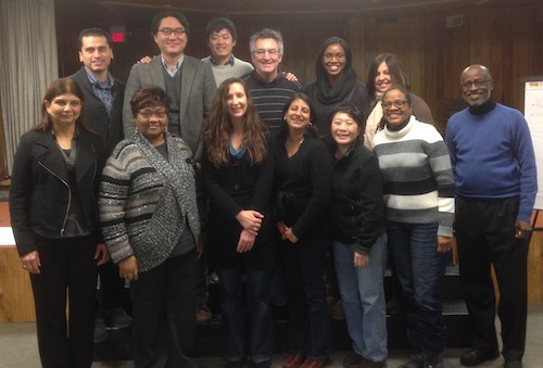 New York Justice for Our Neighbors staff and board members and Kimberley Jutze at a retreat in January 2015
