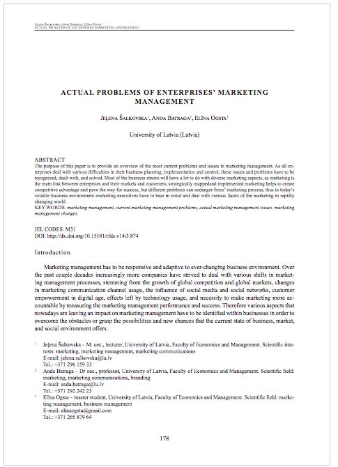 Actual Problems of Enterprises Marketing Management.png
