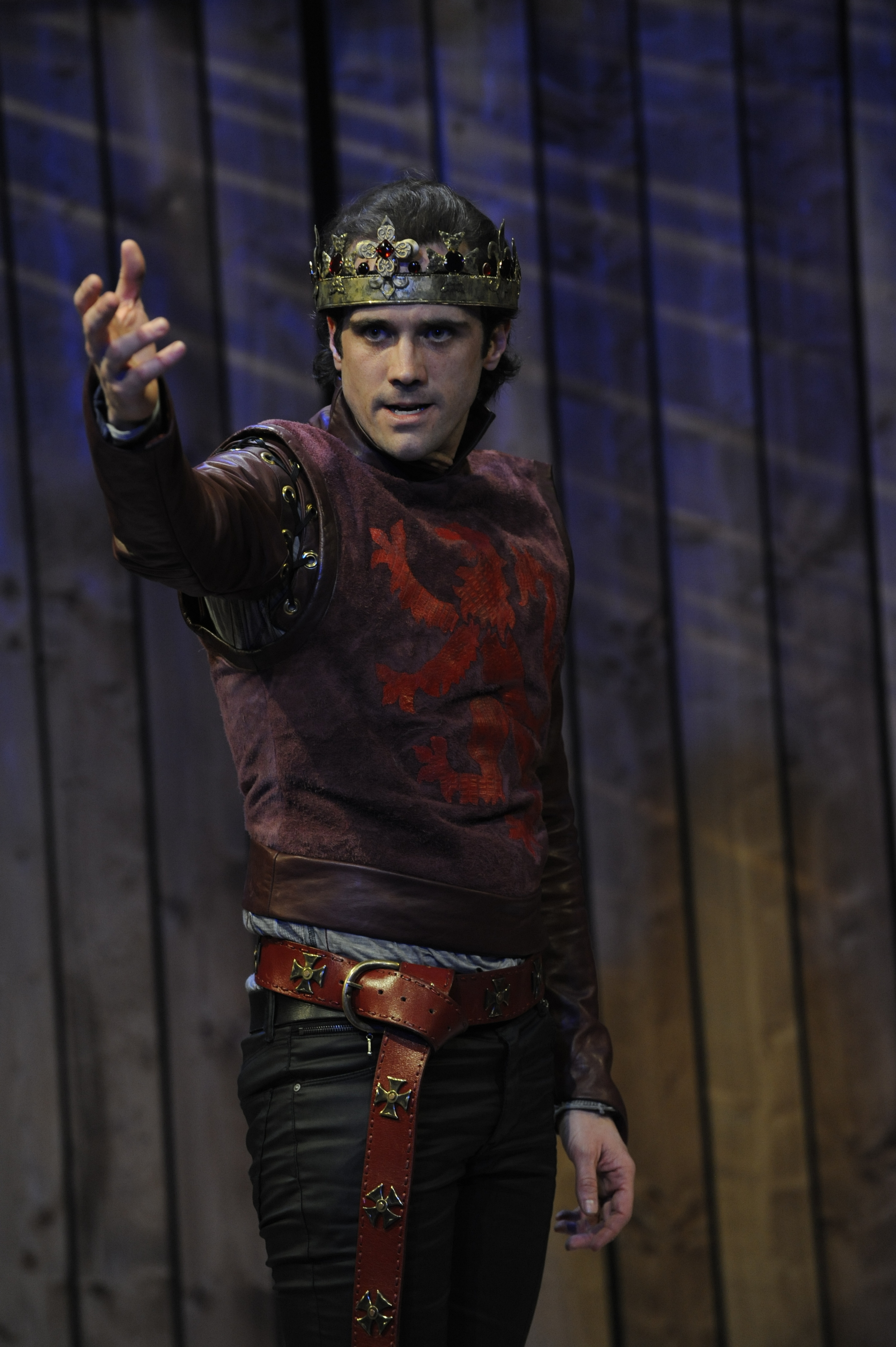 John P. Keller in 'Henry V' at Orlando Shakespeare Theatre. Photo: Tony Firriolo