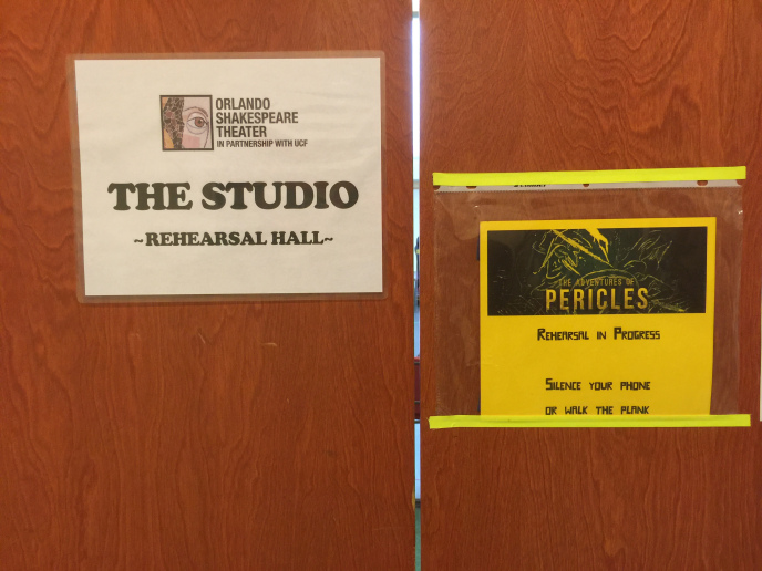 Orlando Shakes  Pericles Rehearsal Studio