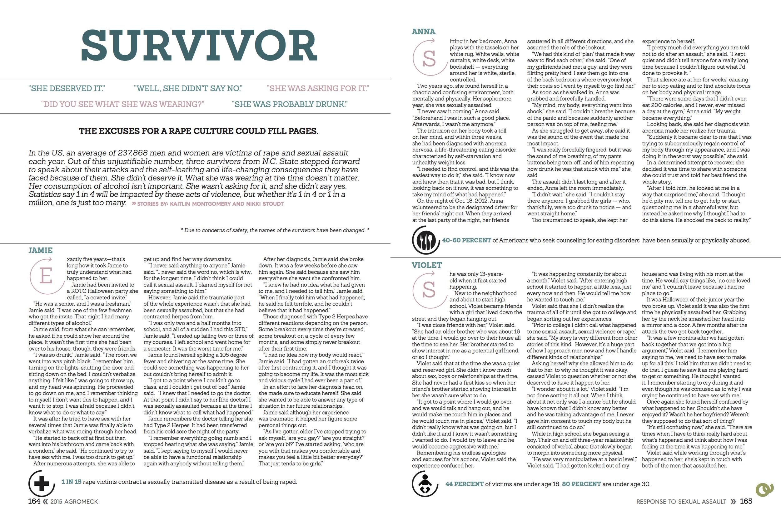 Sexual assault survivor stories