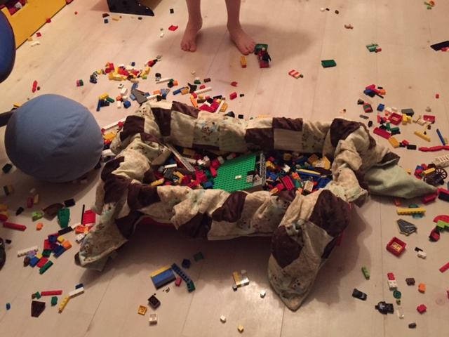 """Major credit to my wife Chay here for the """"Lego blanket"""" technique."""