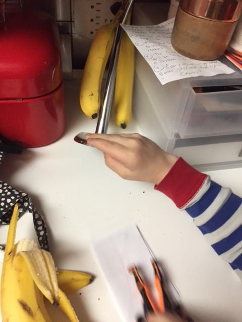 He eventually found the clue under the banana hanger