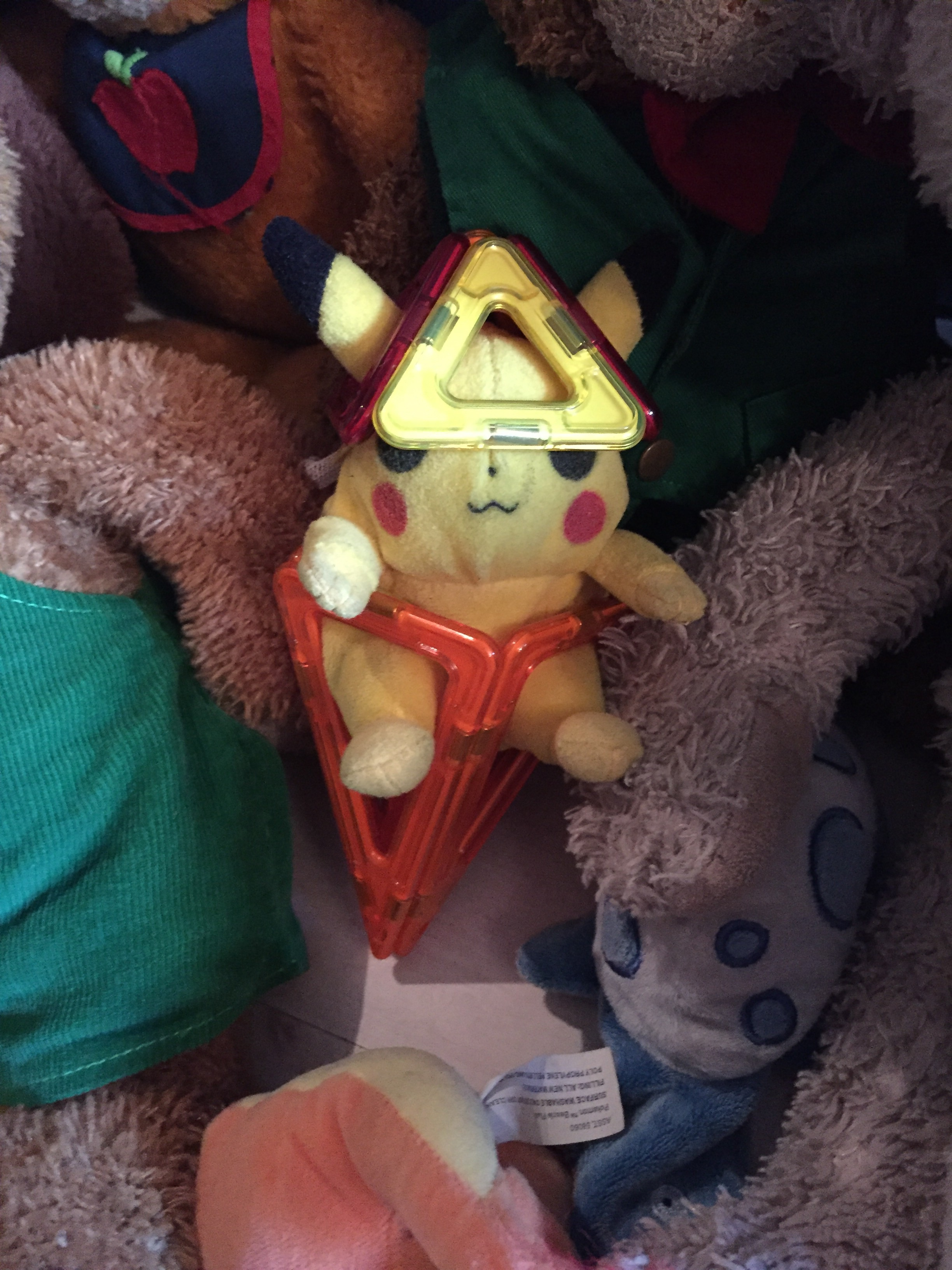 Pikachu is the smallest so Zephyr built him a special flight suit. Interesting since Zephyr is the smallest in his class.