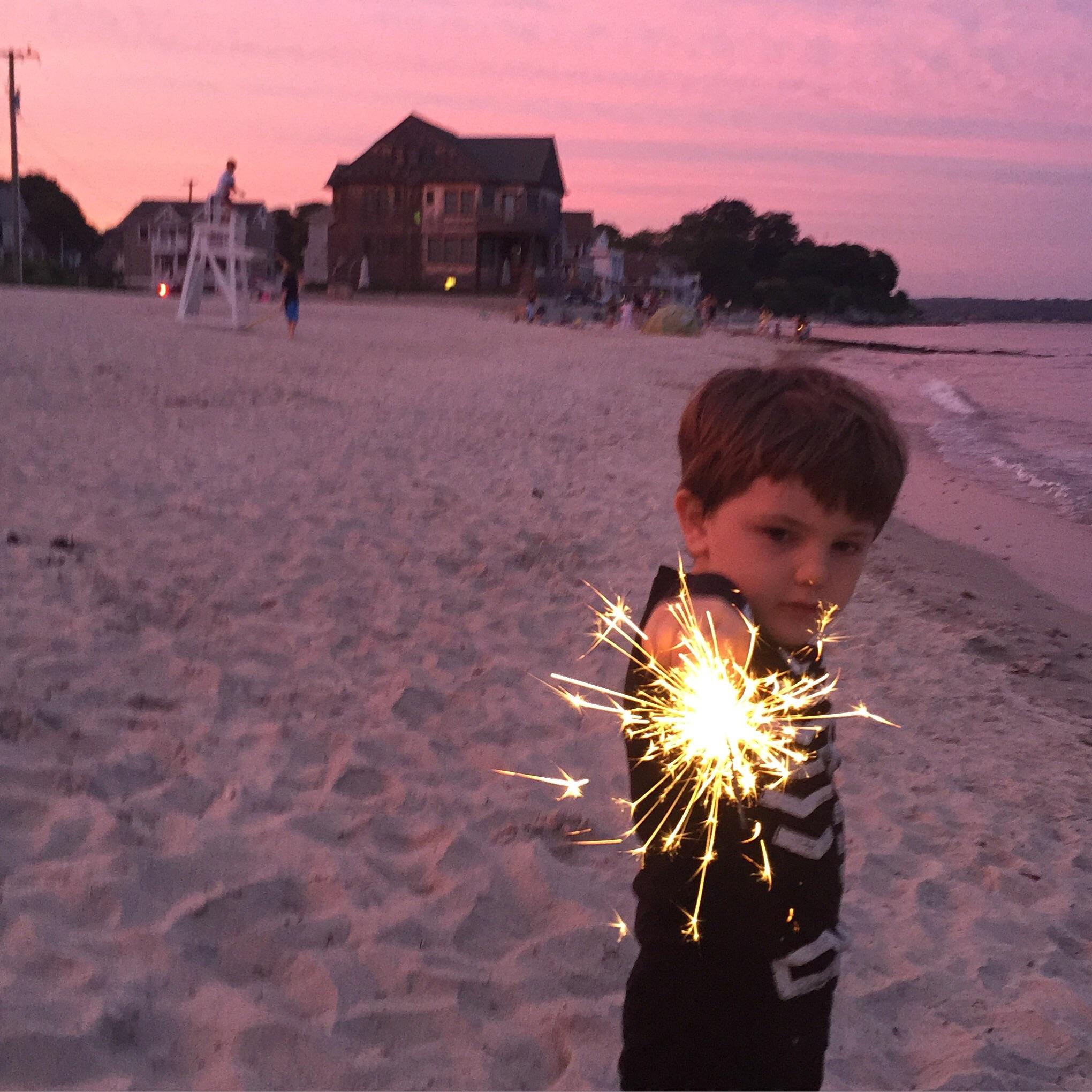 Magic hour, July 4th, Crescent Beach. No filter.