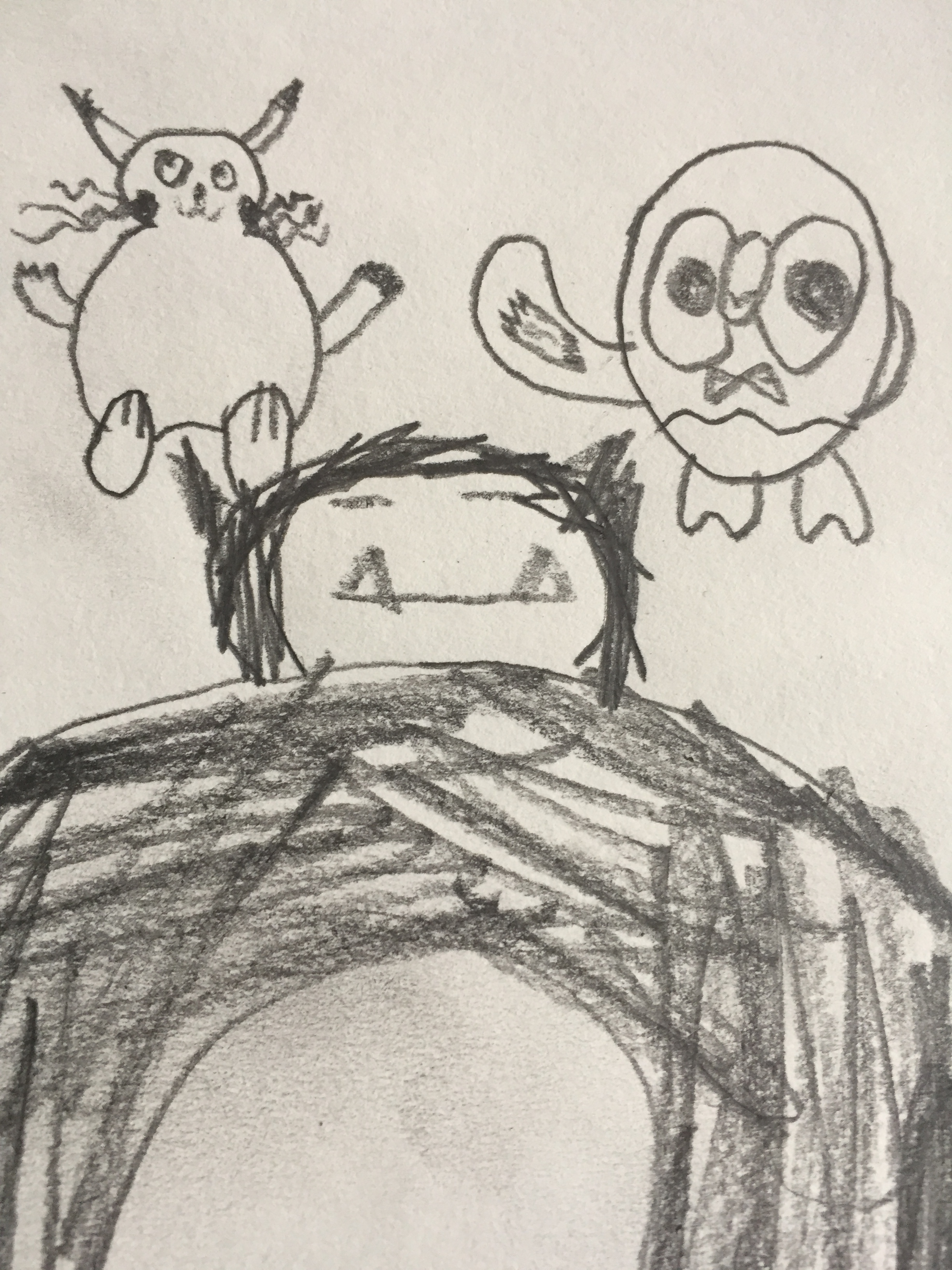 Pretty sweet Snorlax and Rowlet! I especially dig the gesture Rowlet is giving, a nice howdy.