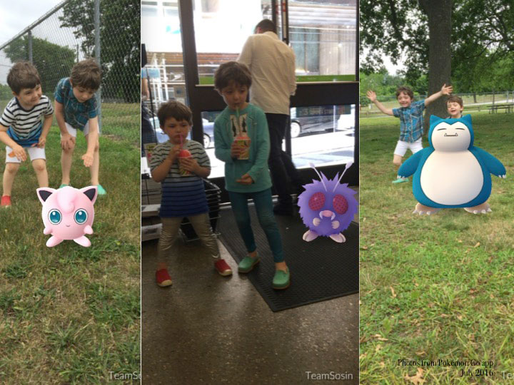 fig.6a -  Sosin lads with Pokémon.