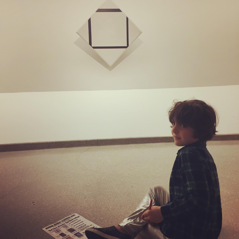 Zephyr found something calming in Mondrian's De Stijl pieces.