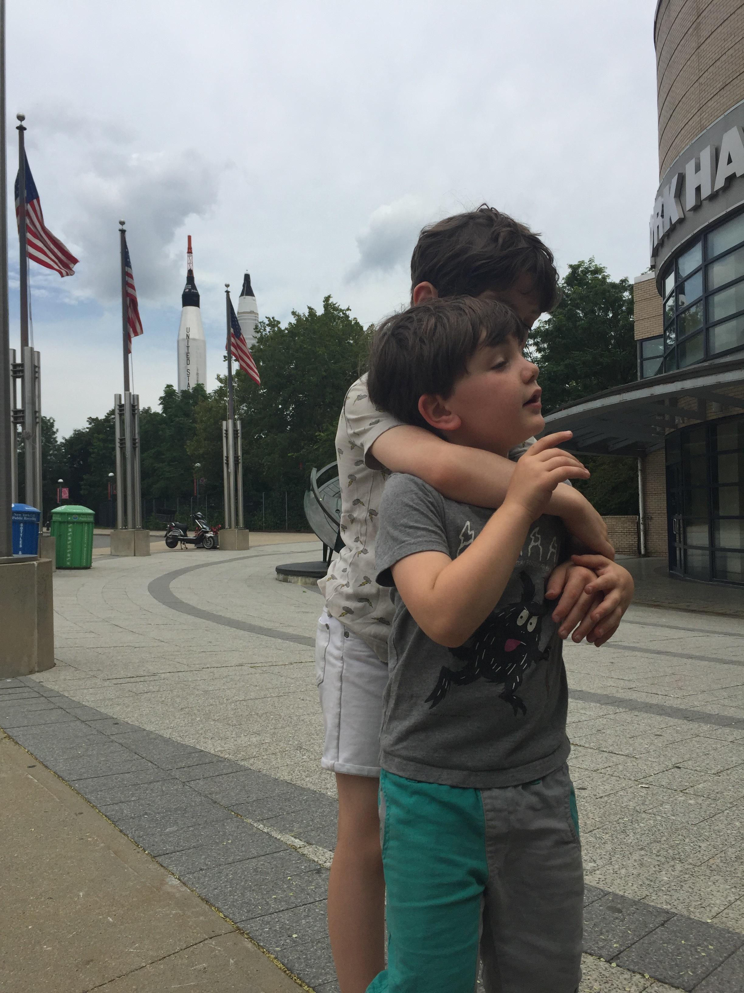 Just a little hug.