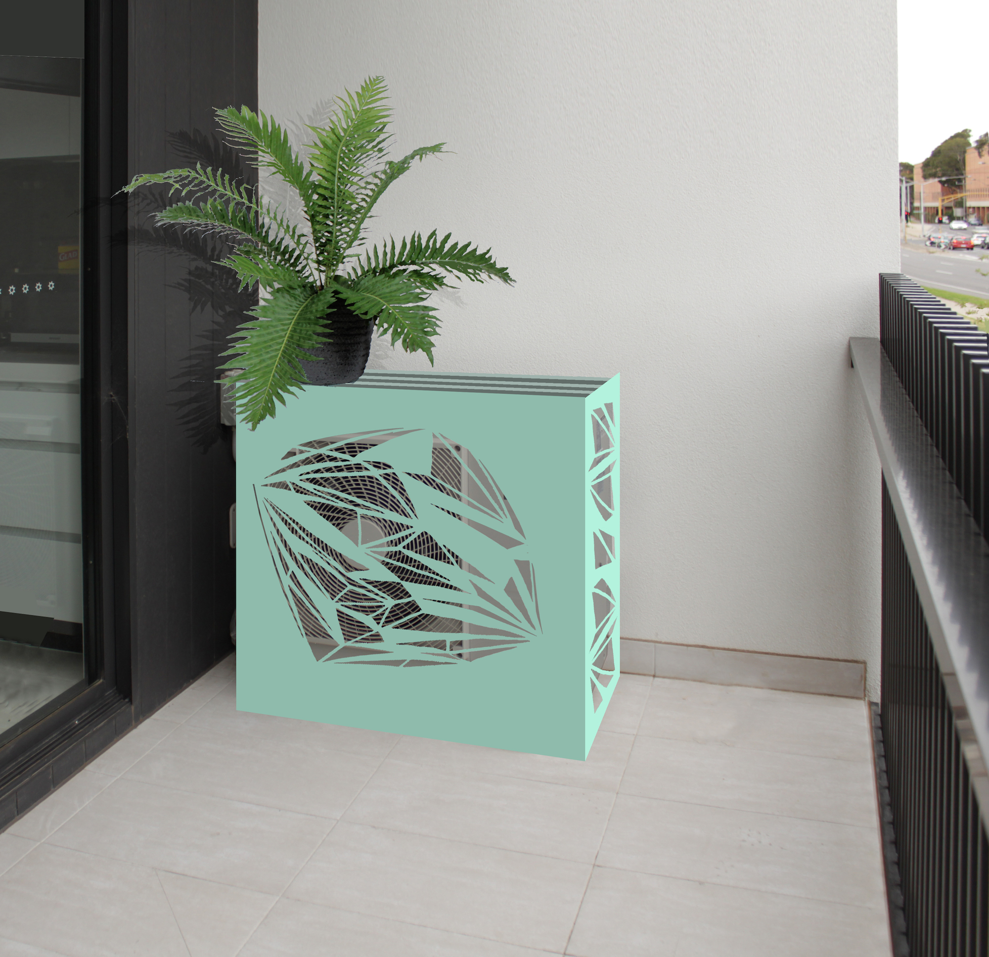 Rendered AC outdoor unit cover