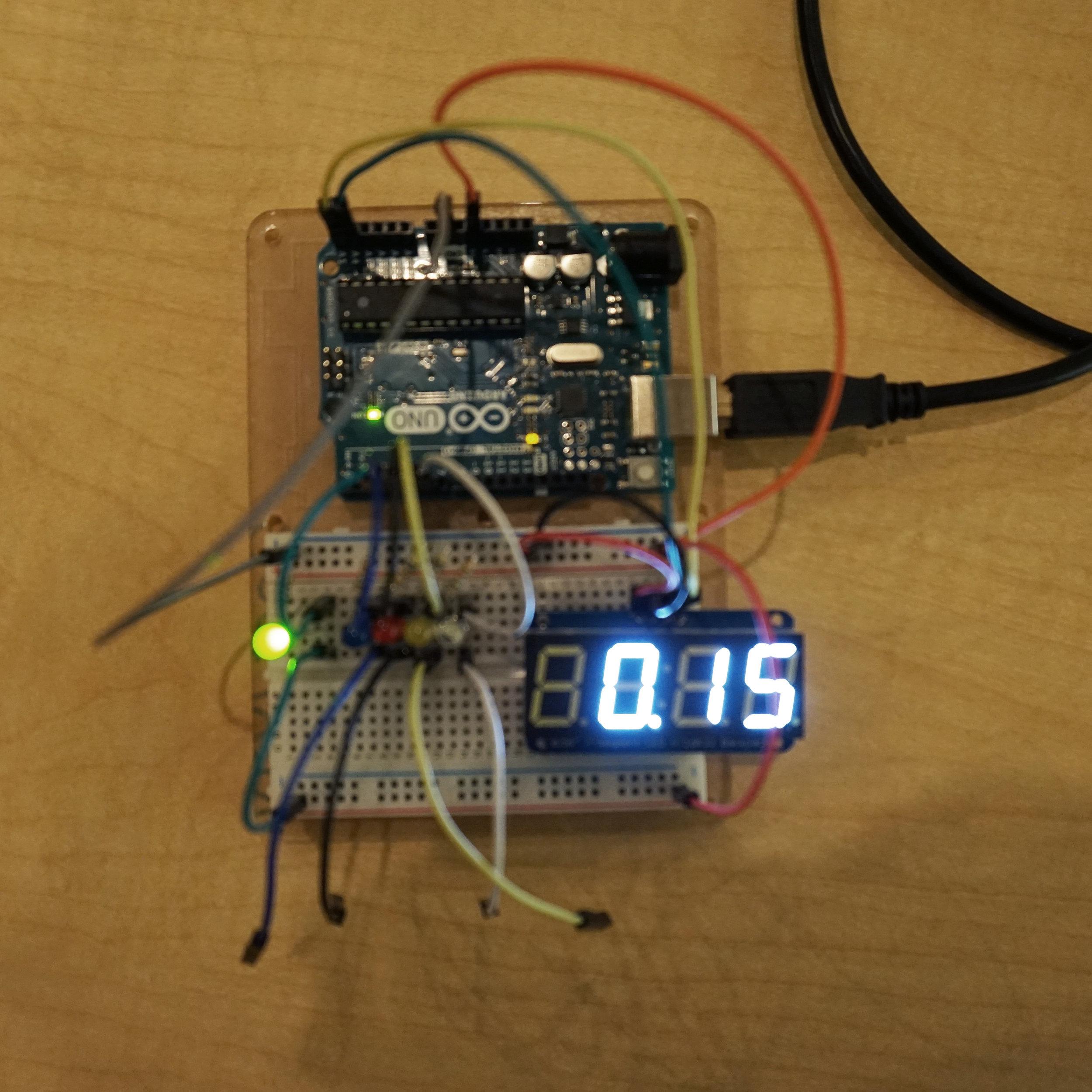 Testing the digital display.
