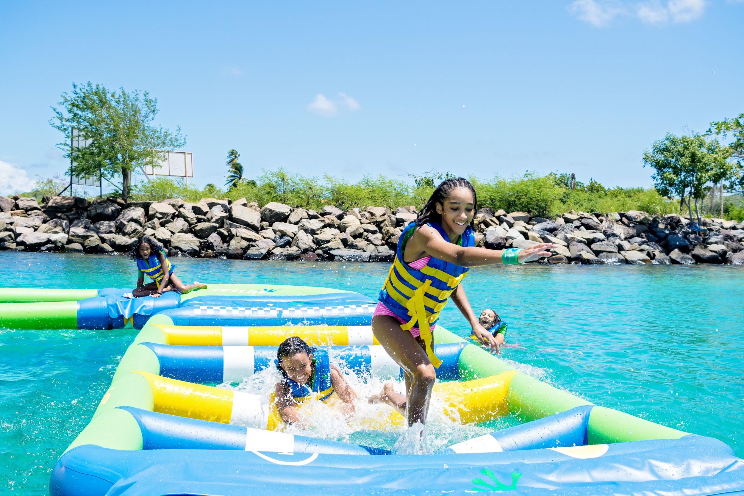 Splash Island Water Park St. Lucia Hurdles